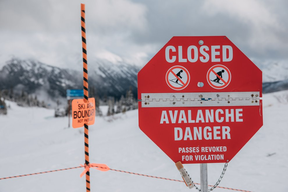 Snowboard Safety Tip #8: Heed avalanche warnings.
