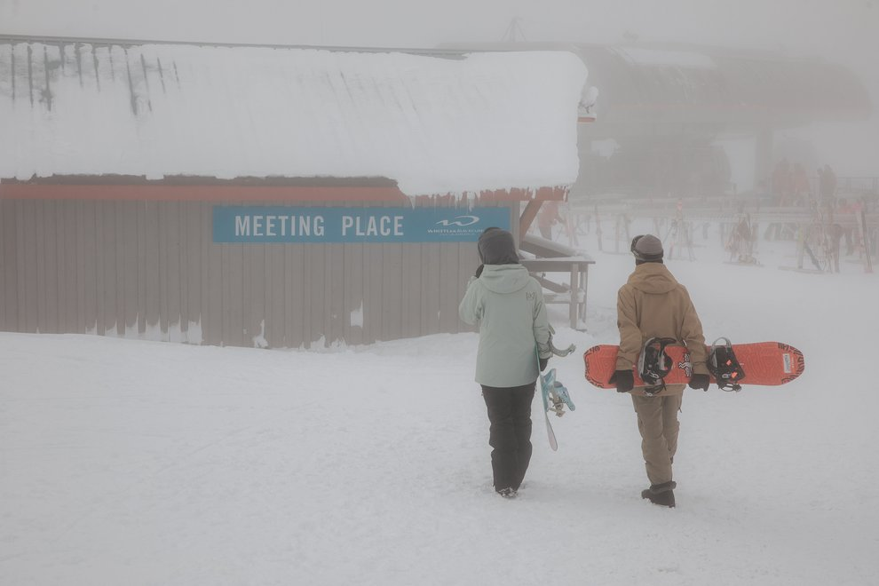 Snowboard Safety Tip #3: Set a check-in spot.