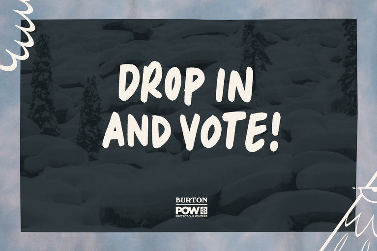 Drop in and vote! Graphic Image