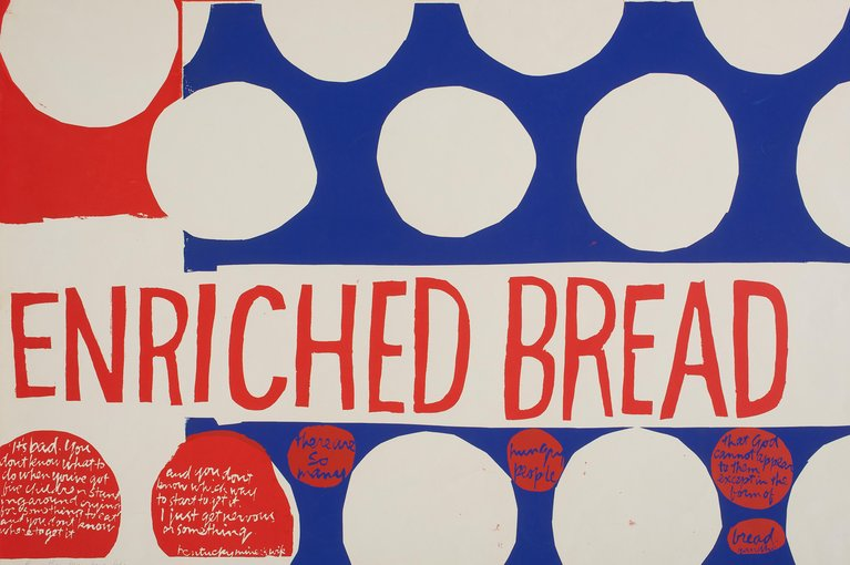 """enriched bread"" by Corita Kent"