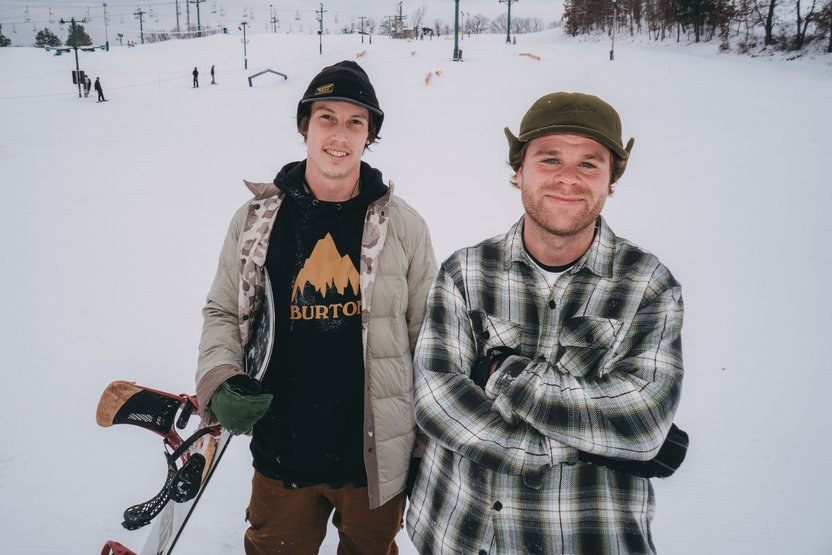Ethan Deiss and Shane Ruprecht, two midwest natives who know their way around a rope tow.