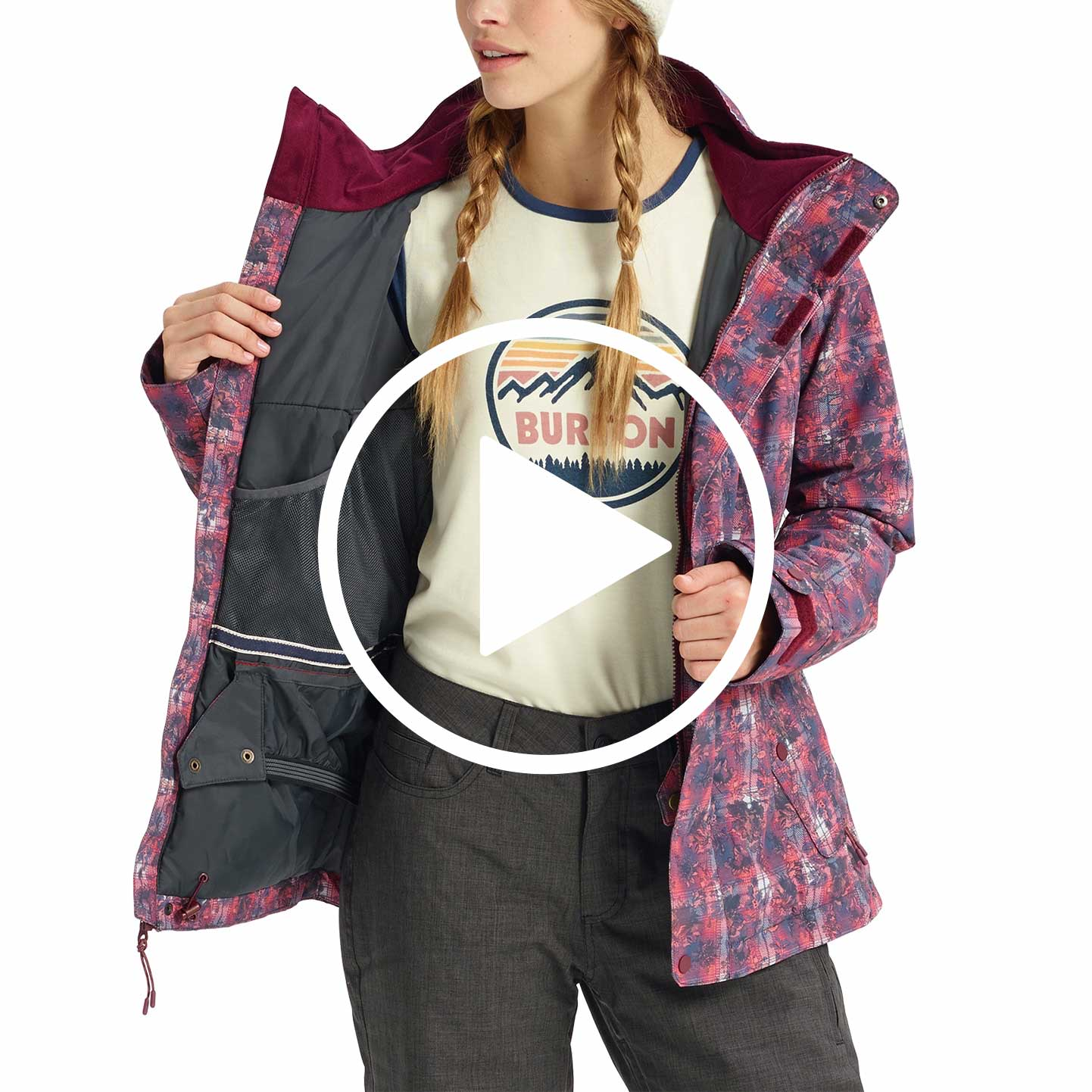 922413ddc56 Includes Women s Burton Jacket Standard Features Package