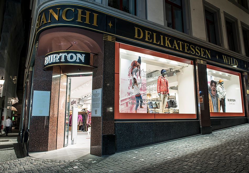 Magasin phare Burton - Zurich