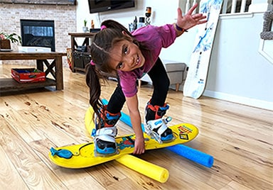 Indoor Snowboarding for Kids - Watch Now / Read Blog / Shop Riglet Board