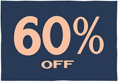 Save 60% on Select Items - Shop Now