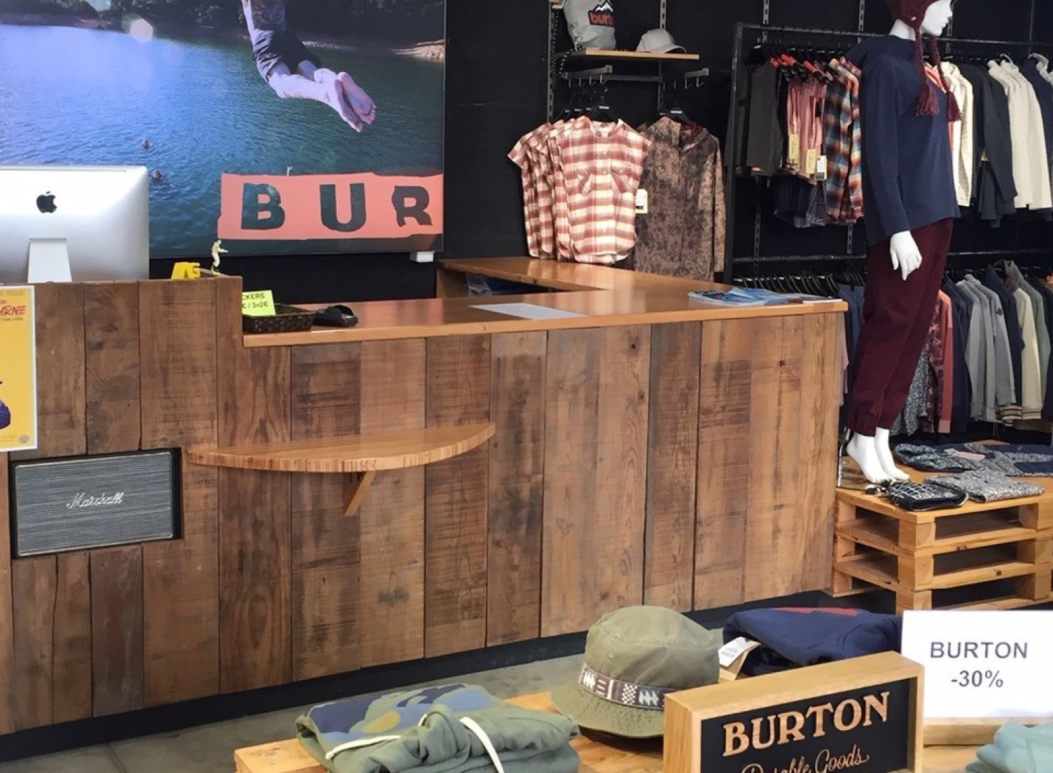 Point de vente Burton — Hossegor
