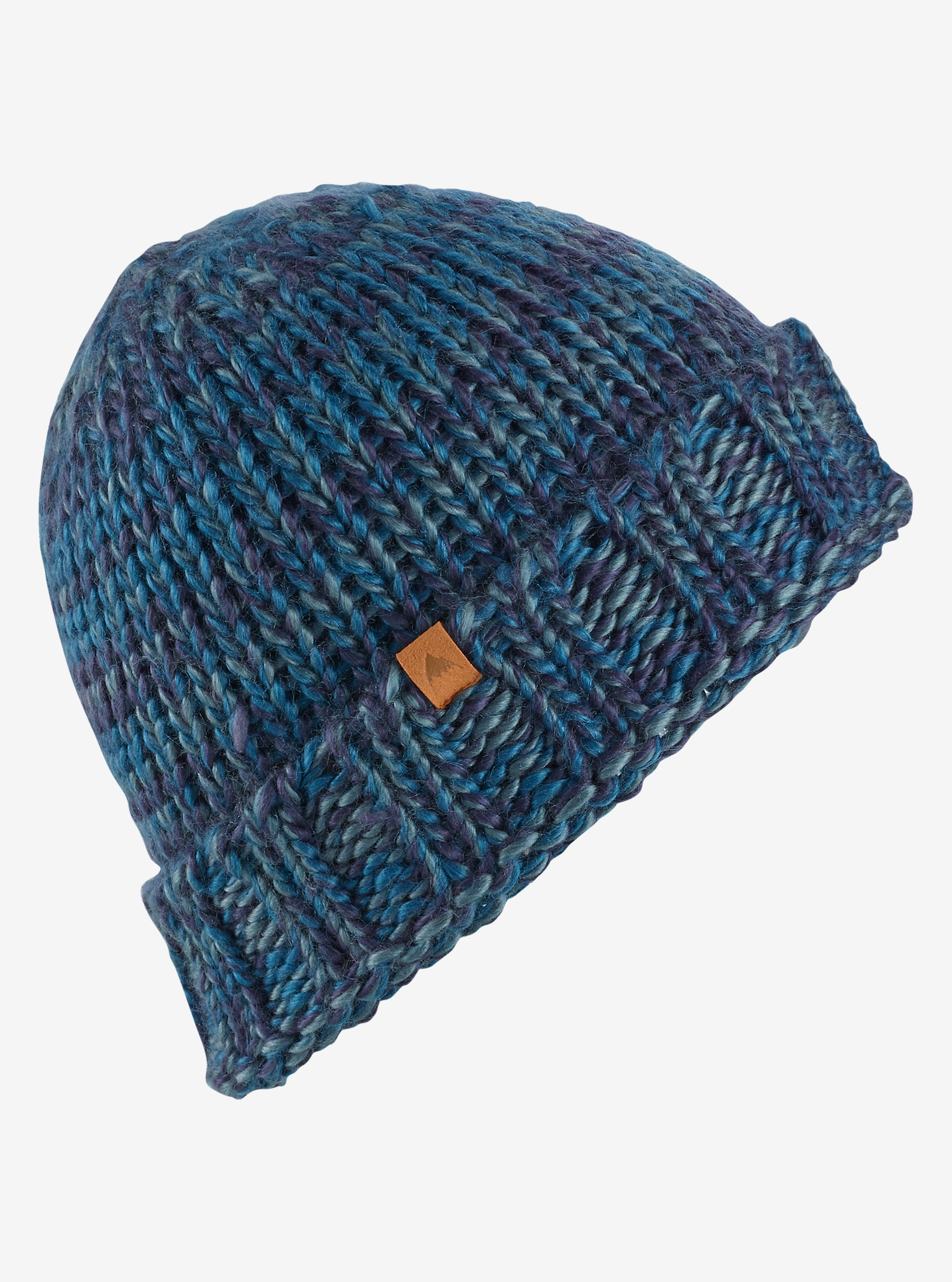 Burton Saltnpepper Beanie shown in Jaded / Tundra / Mood Indigo
