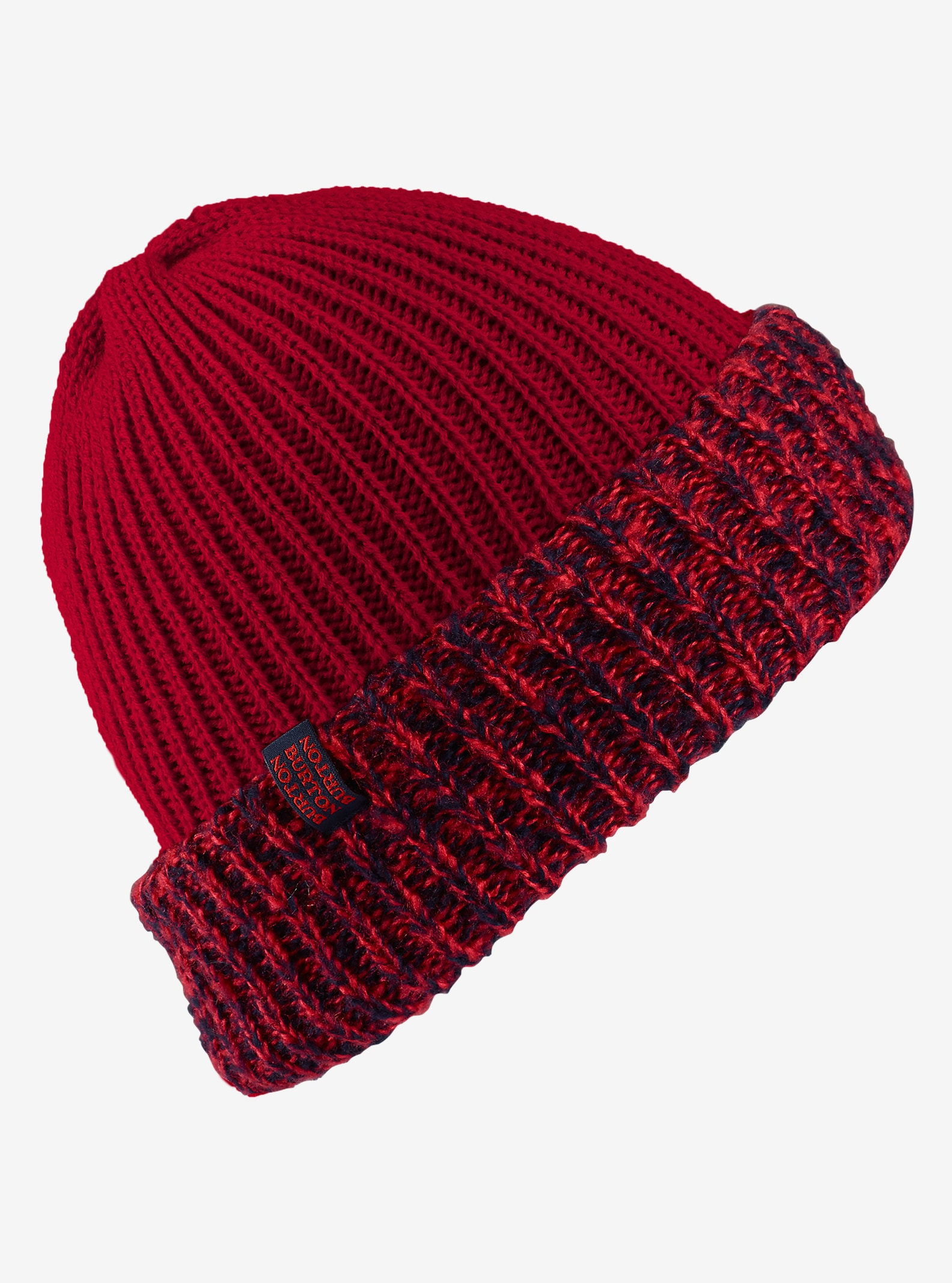 Burton Bone Cobra Beanie - Reversible shown in Coral / Mood Indigo