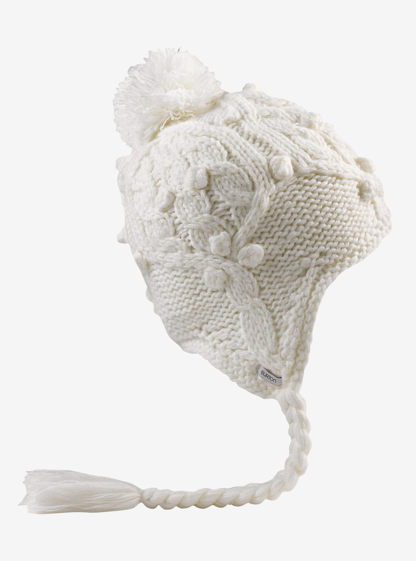 Burton Chloe Earflap Beanie shown in Stout White