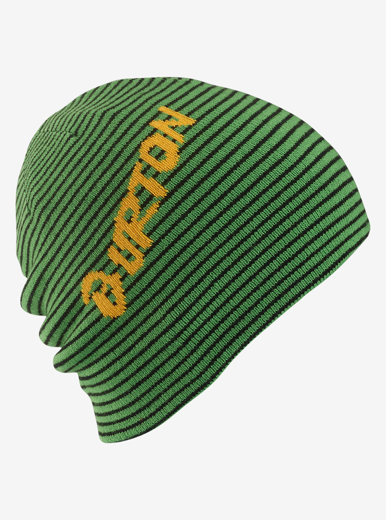 Burton Boys' Marquee Beanie - Reversible shown in Slime / True Black