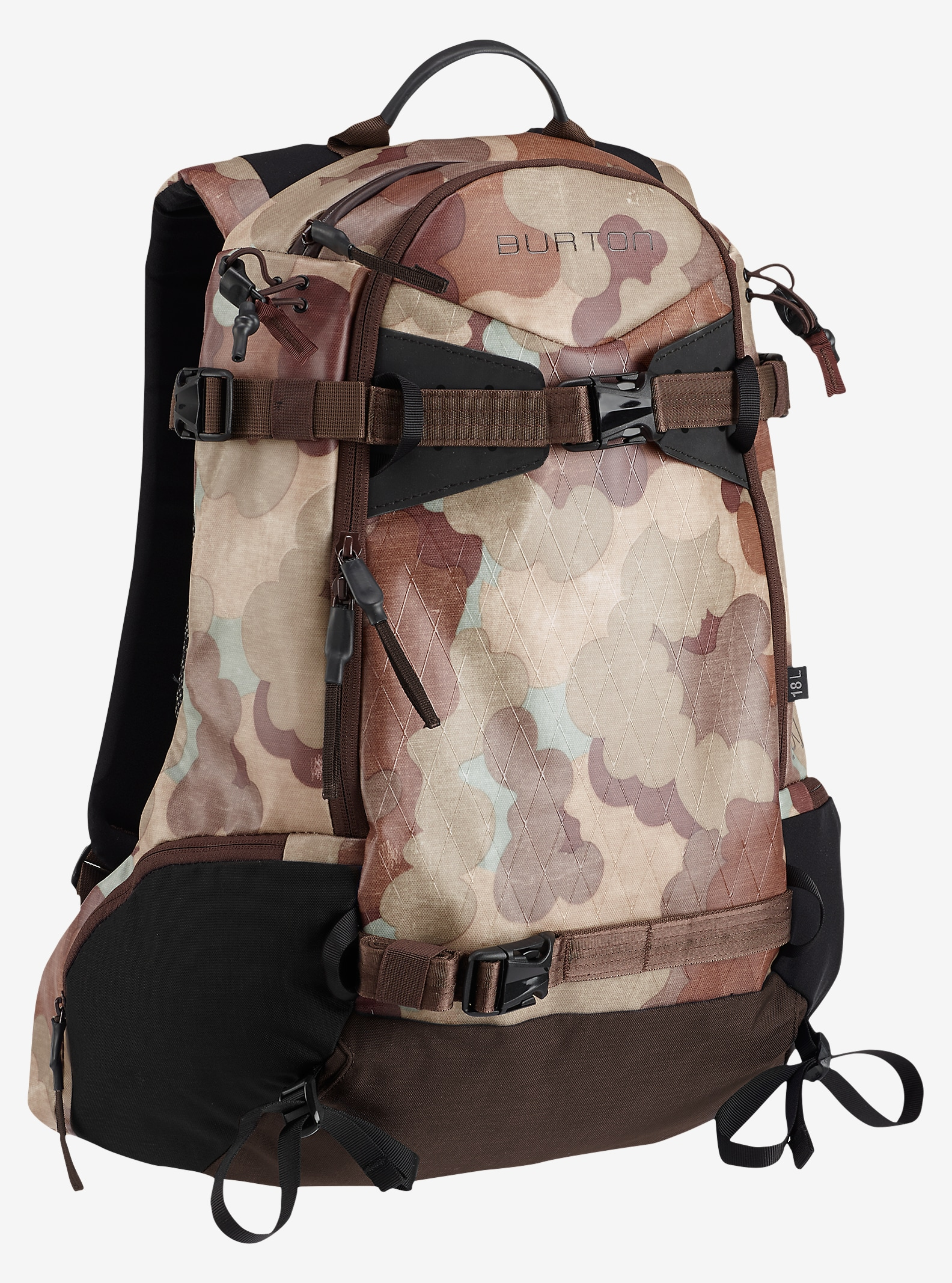 Burton Side Country 18L Backpack shown in Storm Camo Tarp