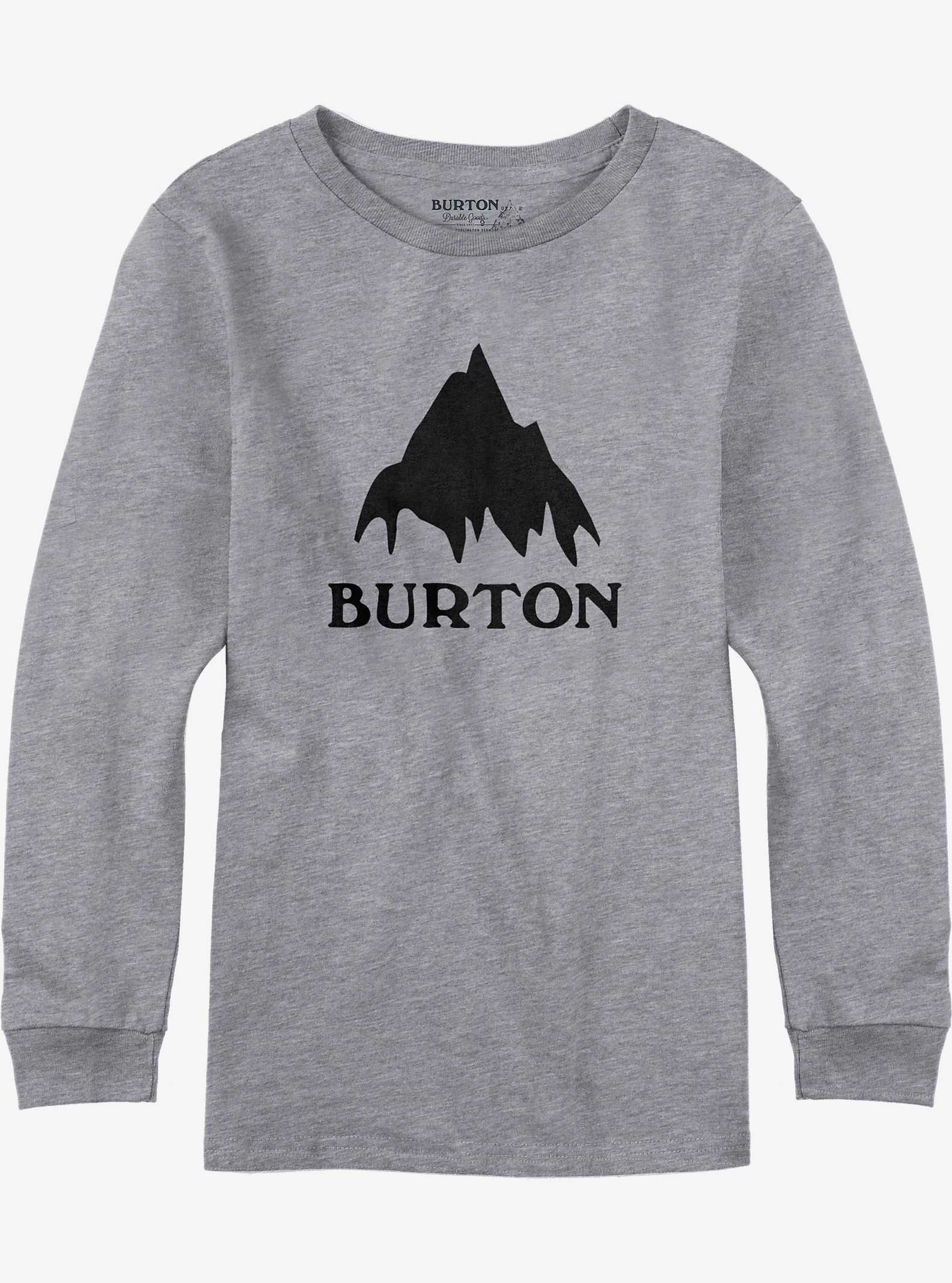 Burton Classic Mountain Long Sleeve T Shirt shown in Gray Heather