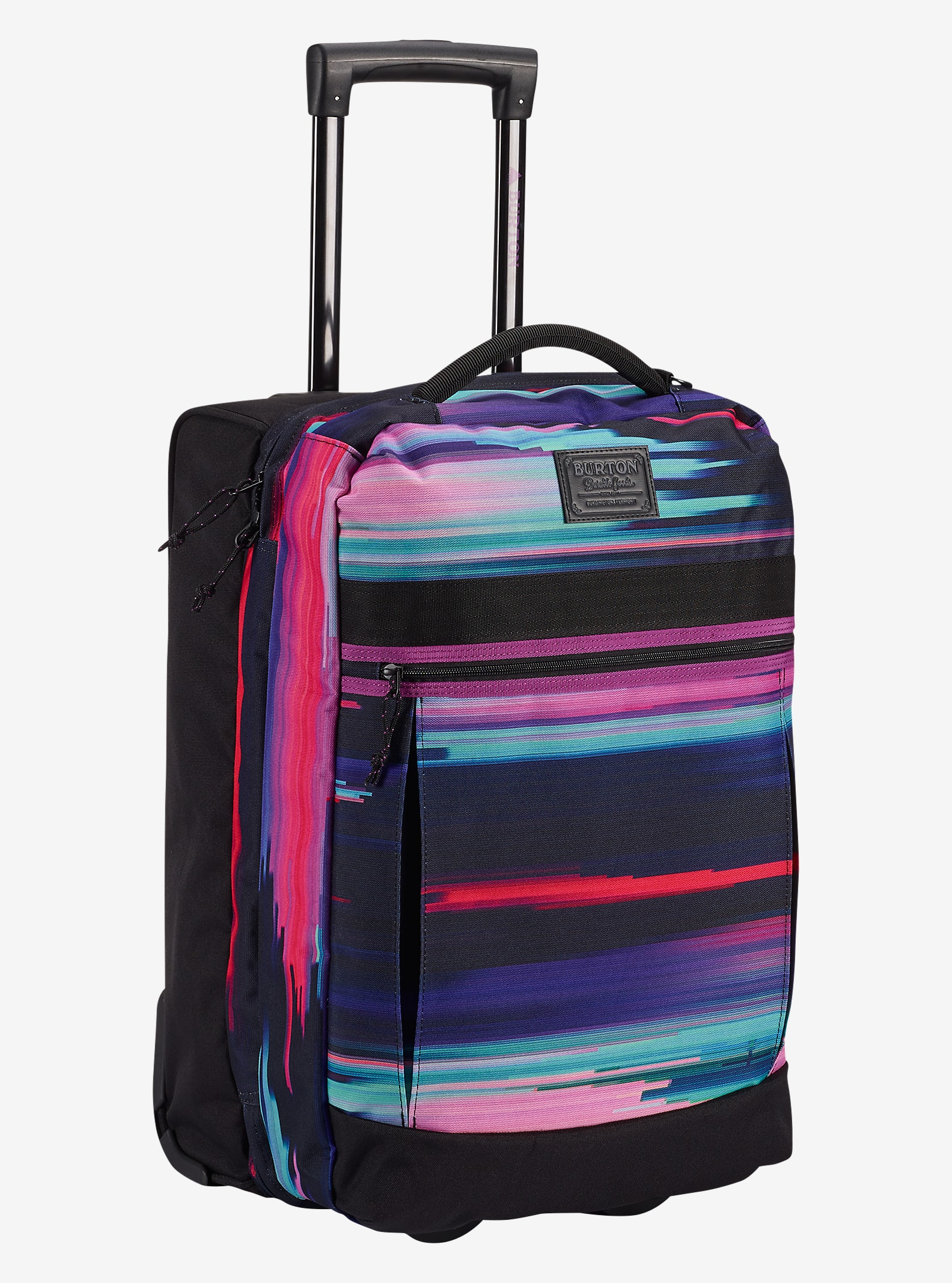 Burton Overnighter Roller Travel Bag shown in Glitch Print