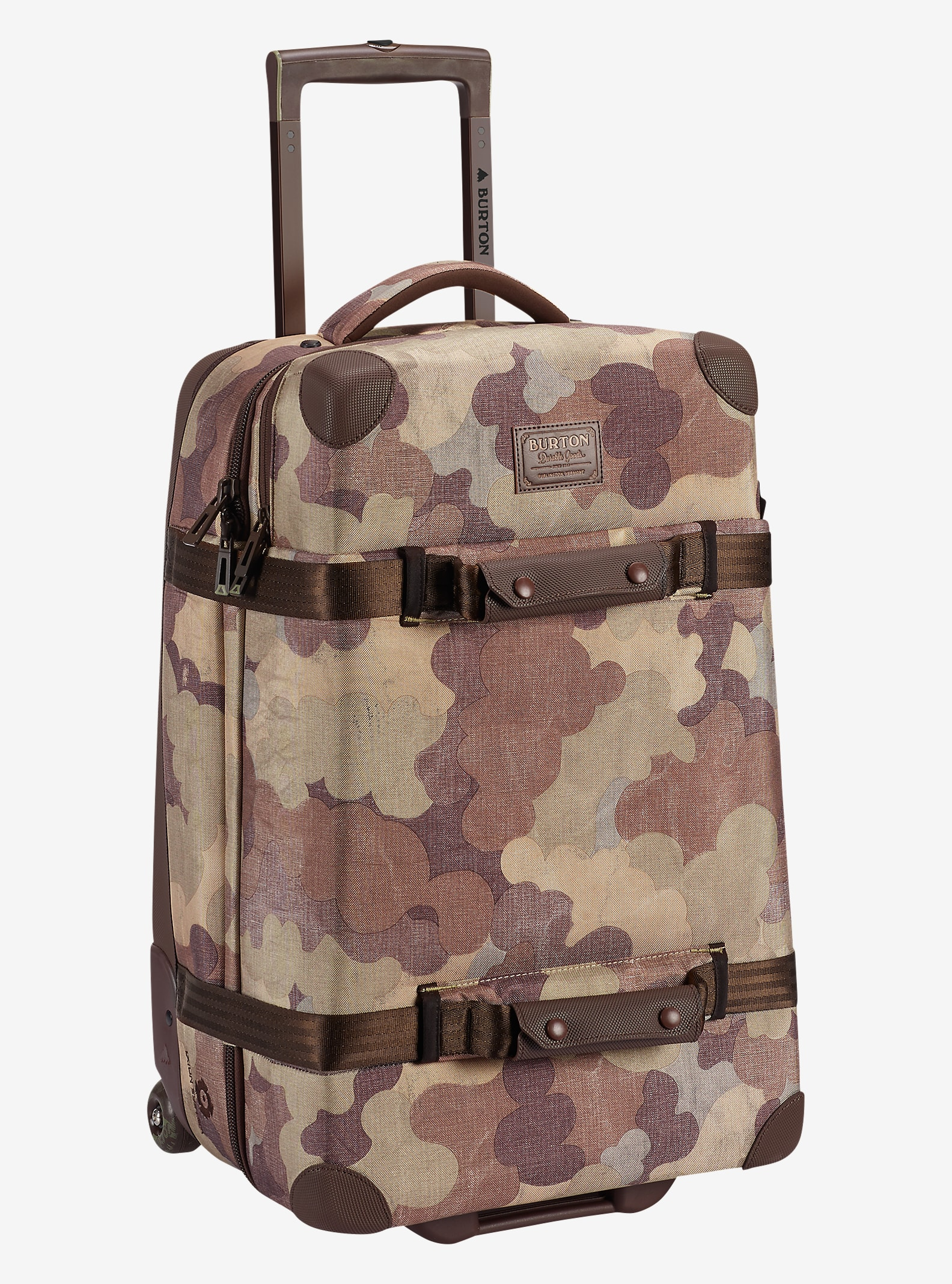 Burton Wheelie Cargo Travel Bag shown in Storm Camo Print