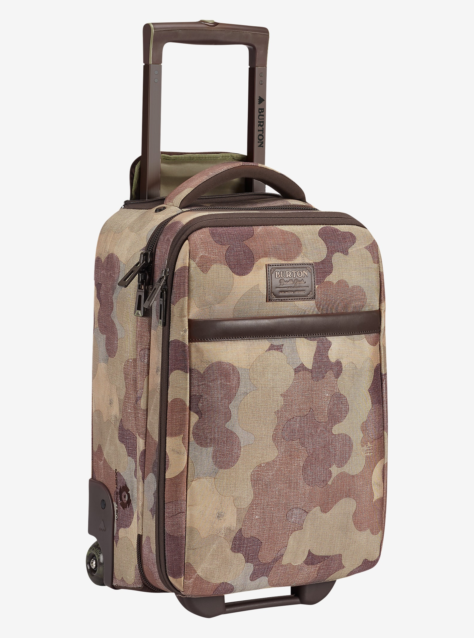 Burton Wheelie Flyer Travel Bag shown in Storm Camo Print