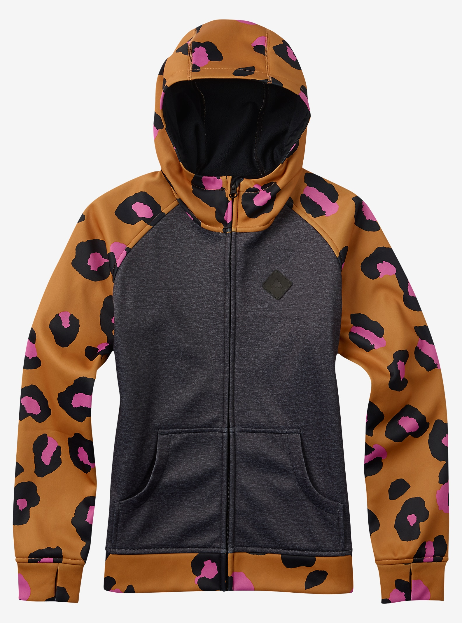 Burton Girls' Scoop Hoodie shown in True Black Heather