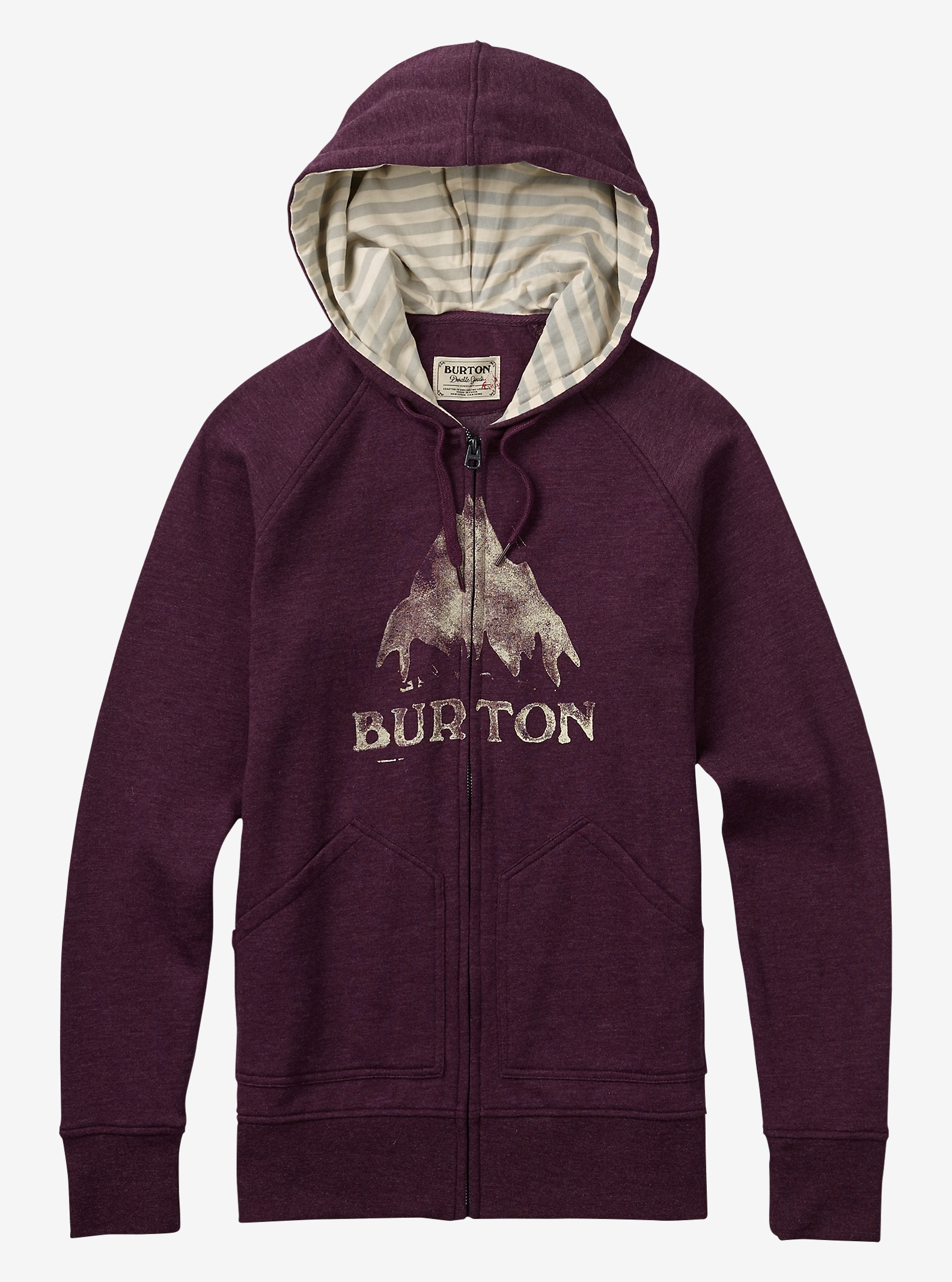 Burton Stamped MTN Full-Zip Hoodie shown in Sangria Heather