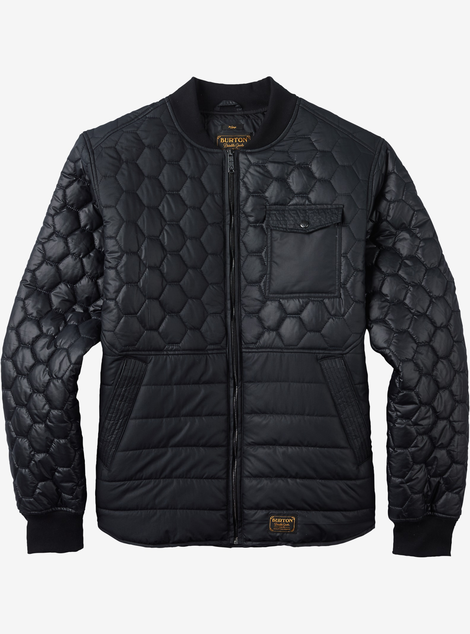Burton Mallett Bomber Jacket shown in True Black
