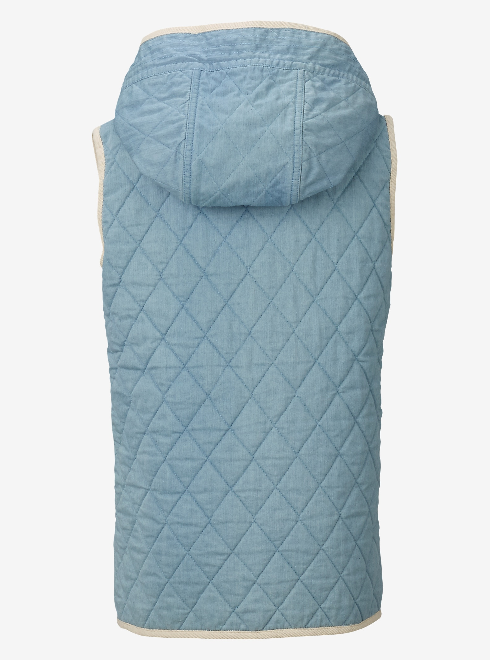 Burton Girl's Gemmi Vest shown in Indigo Herringbone