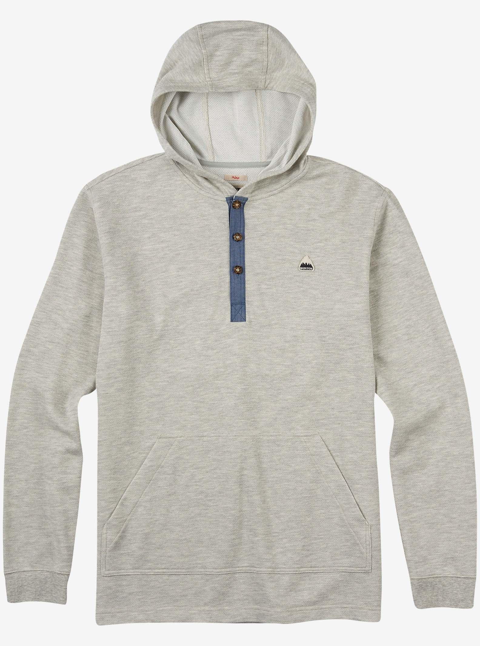 Burton Dexter Hooded Henley shown in High Rise Heather