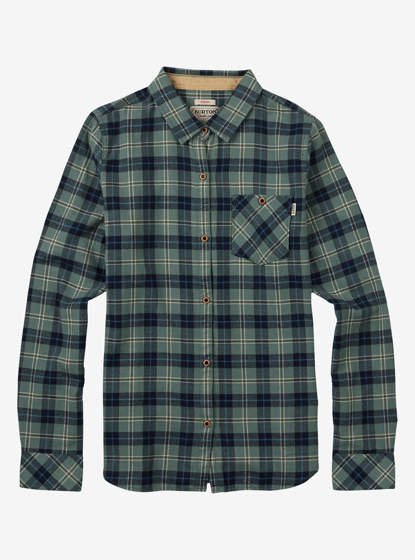 Burton Grace Gewebtes Langarmhemd angezeigt in Eclipse Haze Plaid