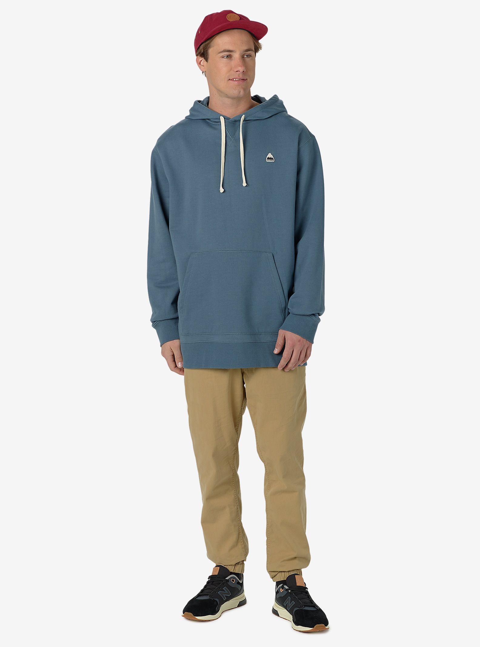 Burton Roe Pullover Hoodie shown in Blue Mirage