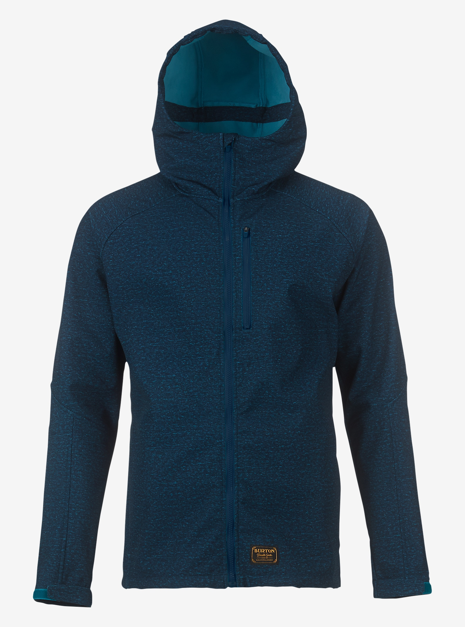 Burton Process Softshell shown in Blue Mirage Heather