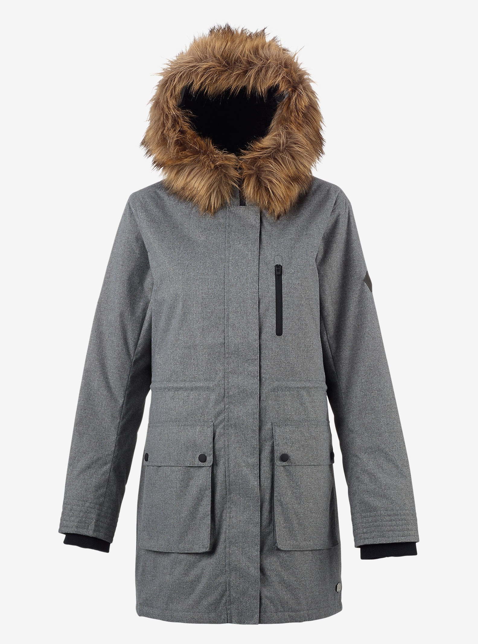Burton Olympus Jacket shown in Dove Heather