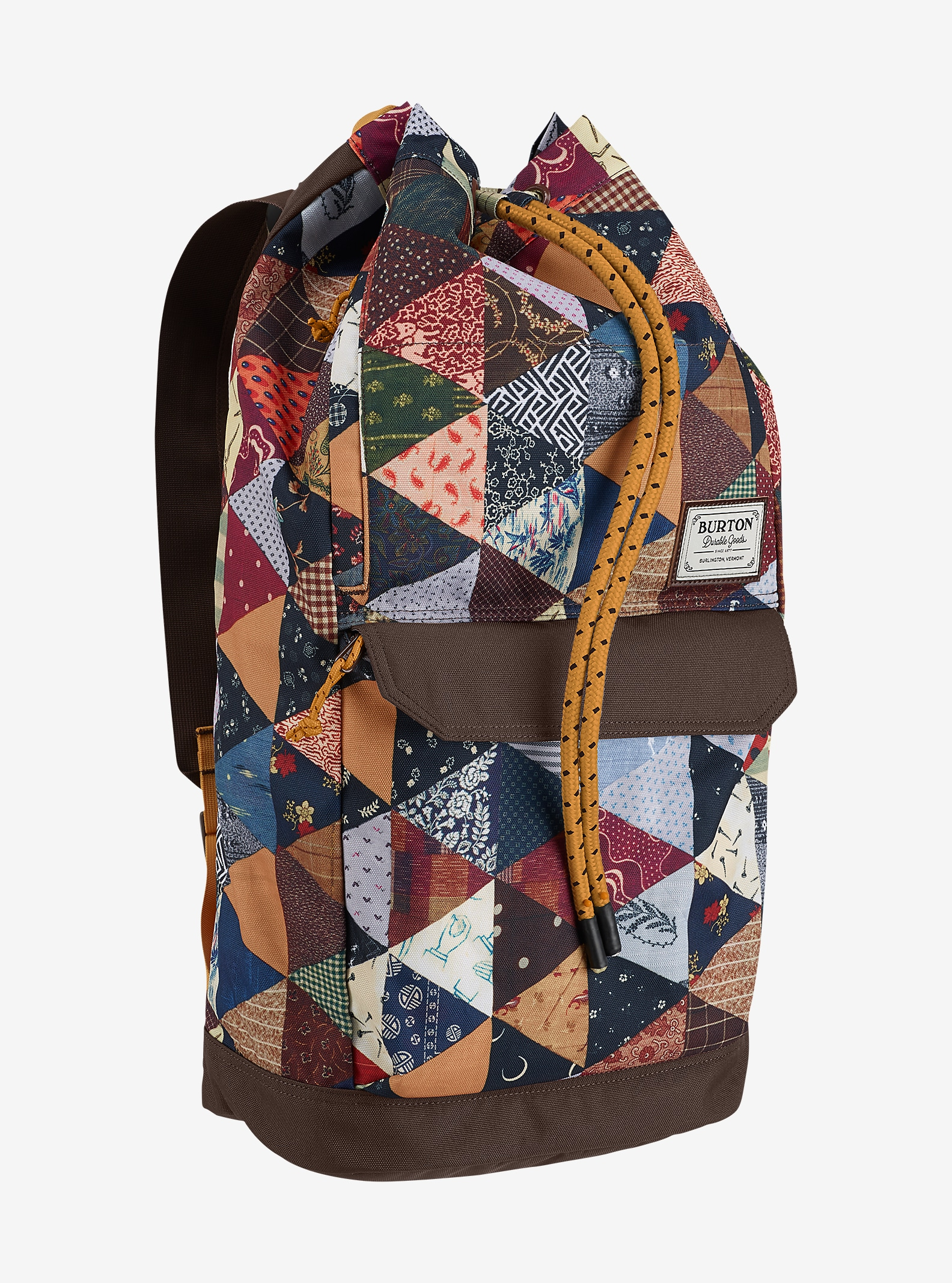 Burton Frontier Backpack shown in Kalidaquilt