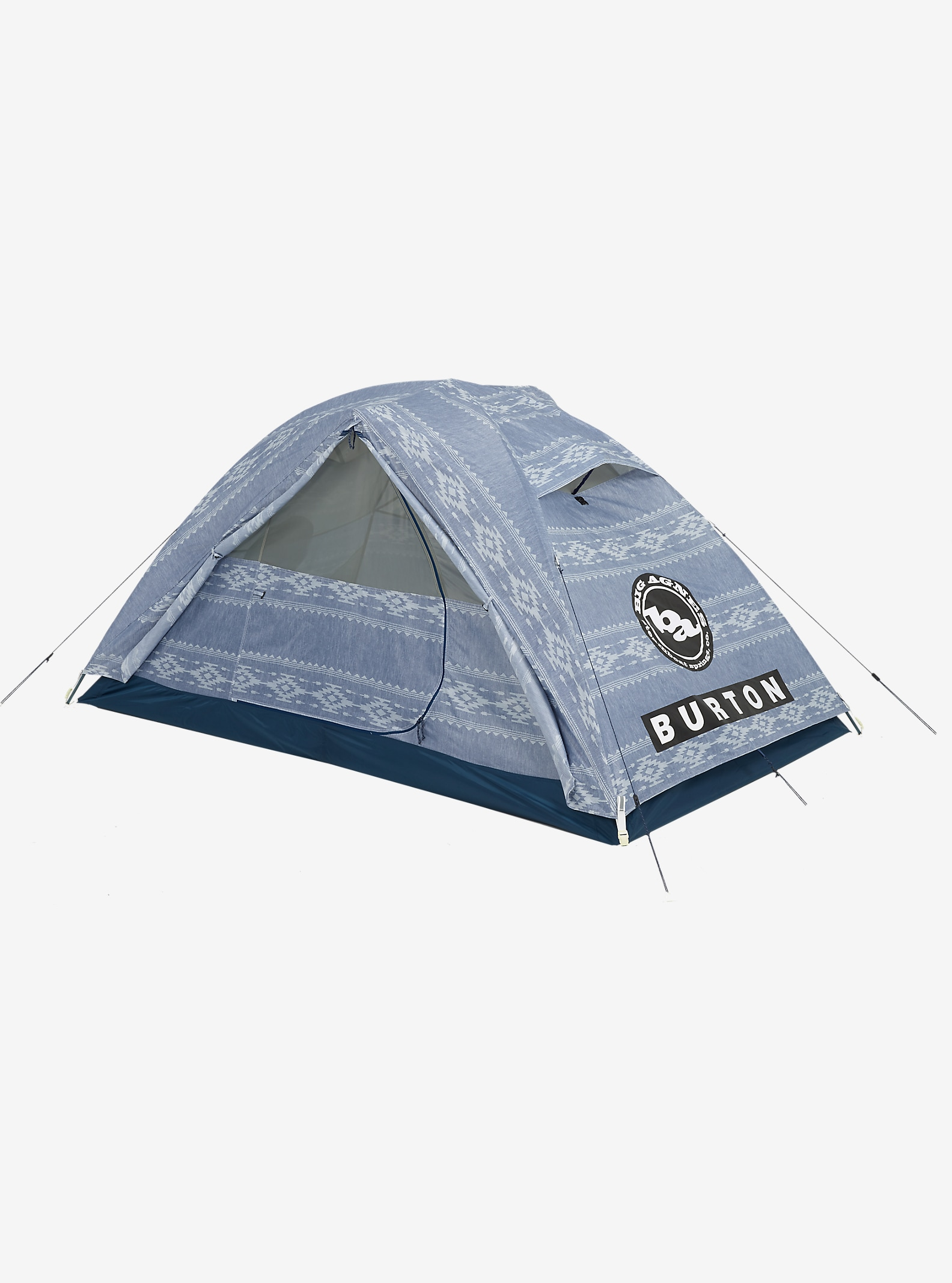 Big Agnes x Burton Nightcap Tent shown in Famish Stripe