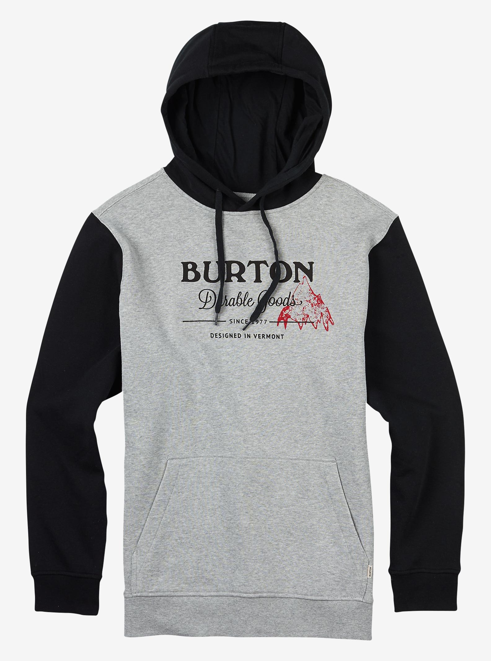 Burton Durable Goods Pullover Hoodie shown in Gray Heather