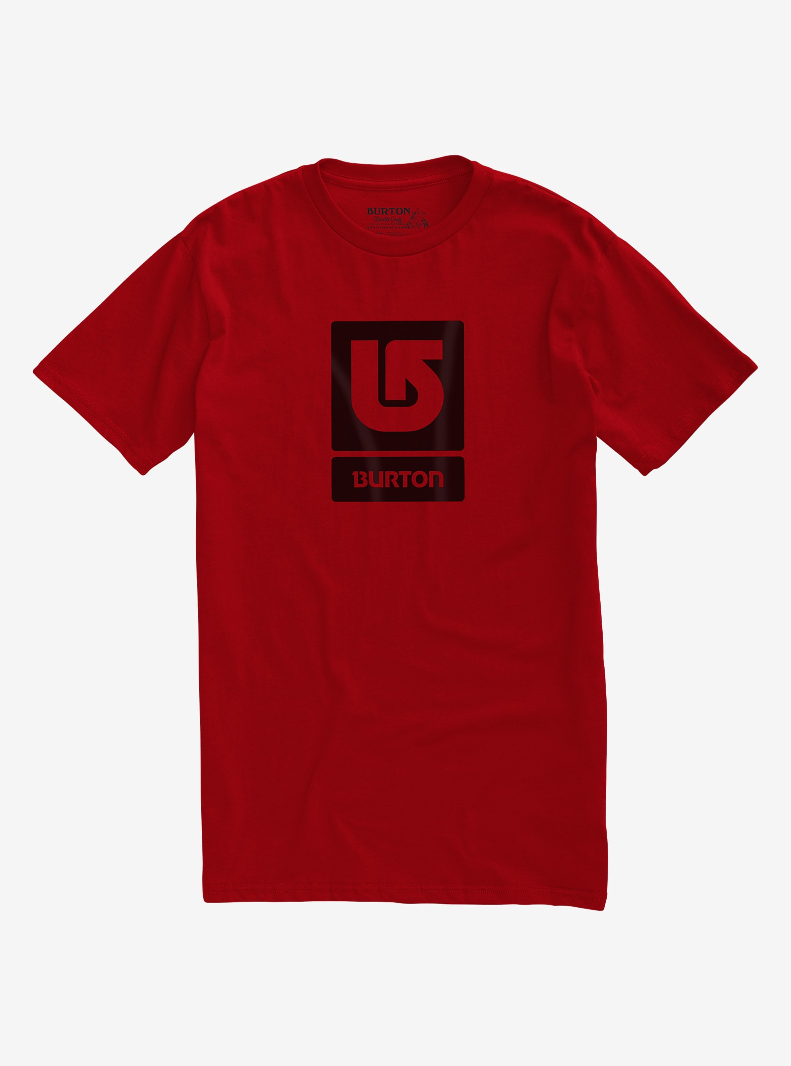 Burton Logo Vertical Fill Short Sleeve T Shirt shown in Process Red