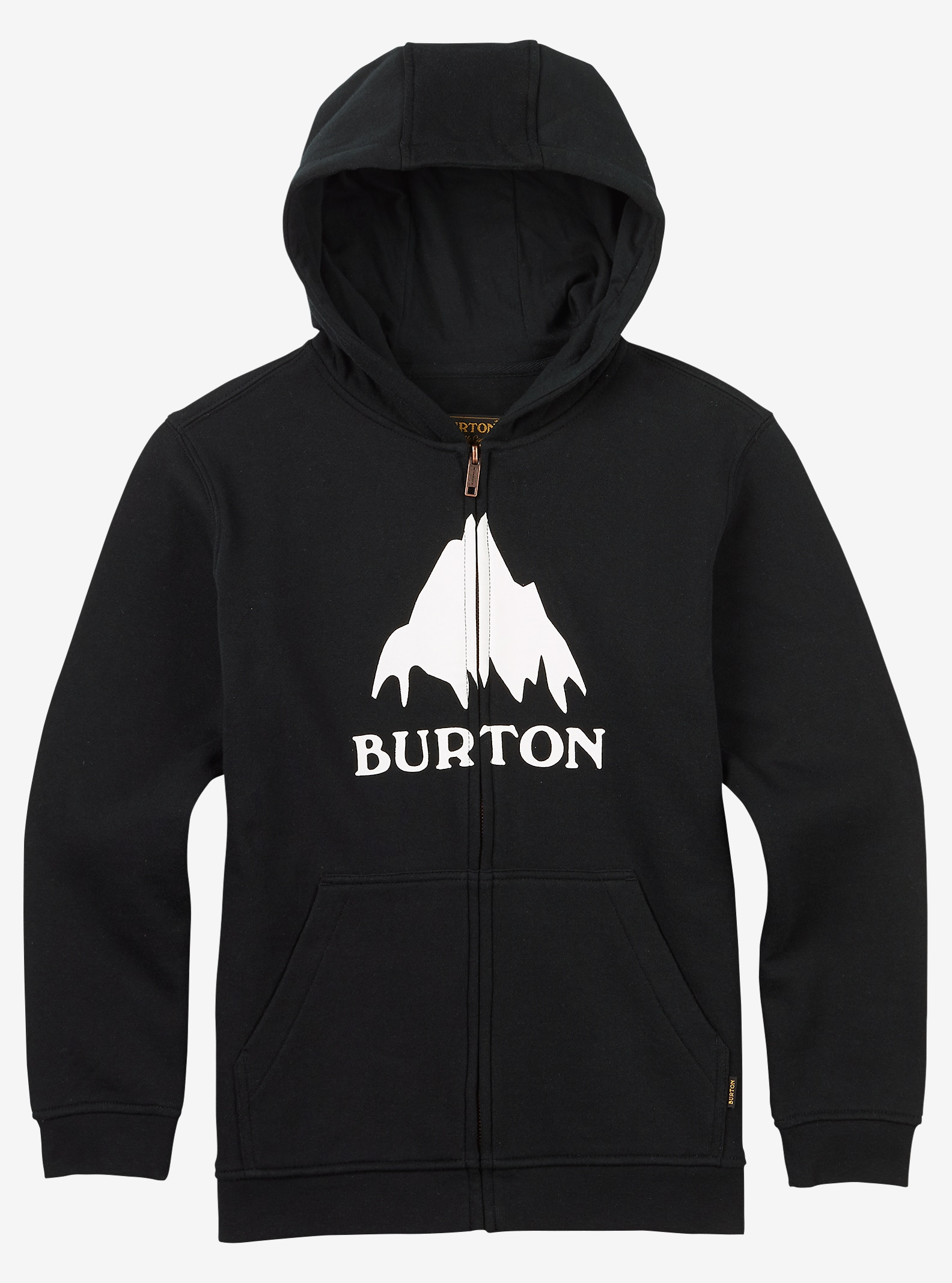 Burton Classic Mountain Full-Zip Hoodie shown in True Black