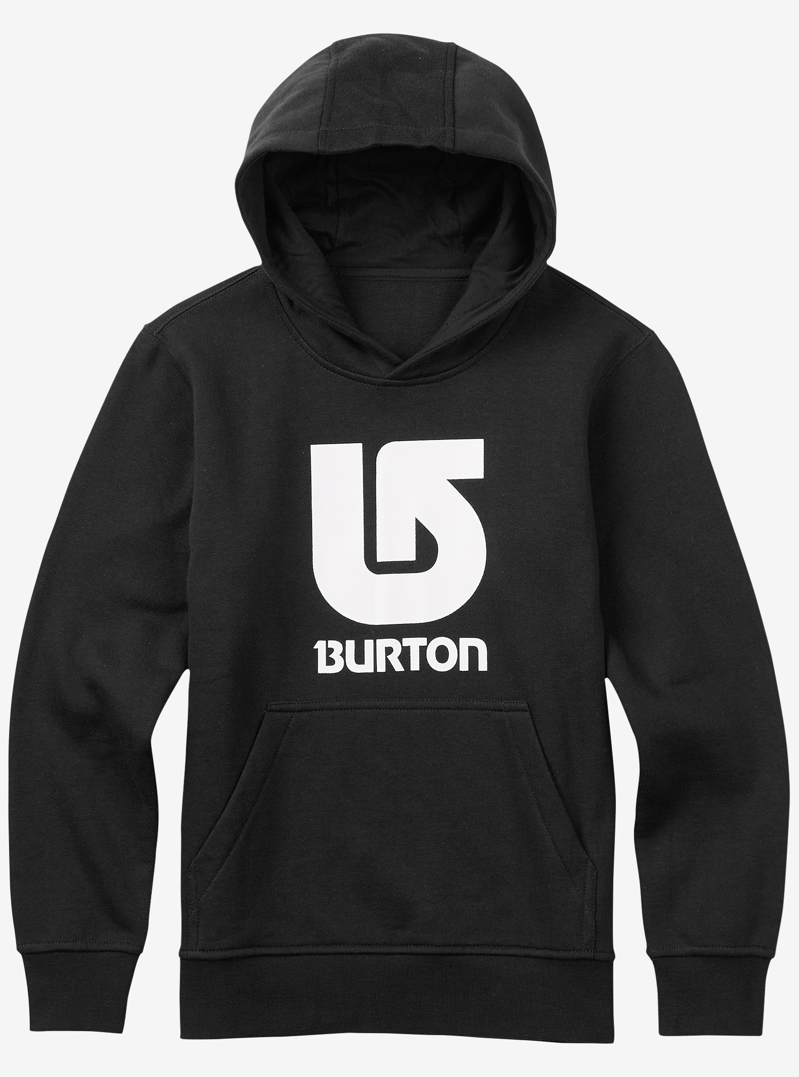 Burton Logo Vertical Pullover Hoodie shown in True Black
