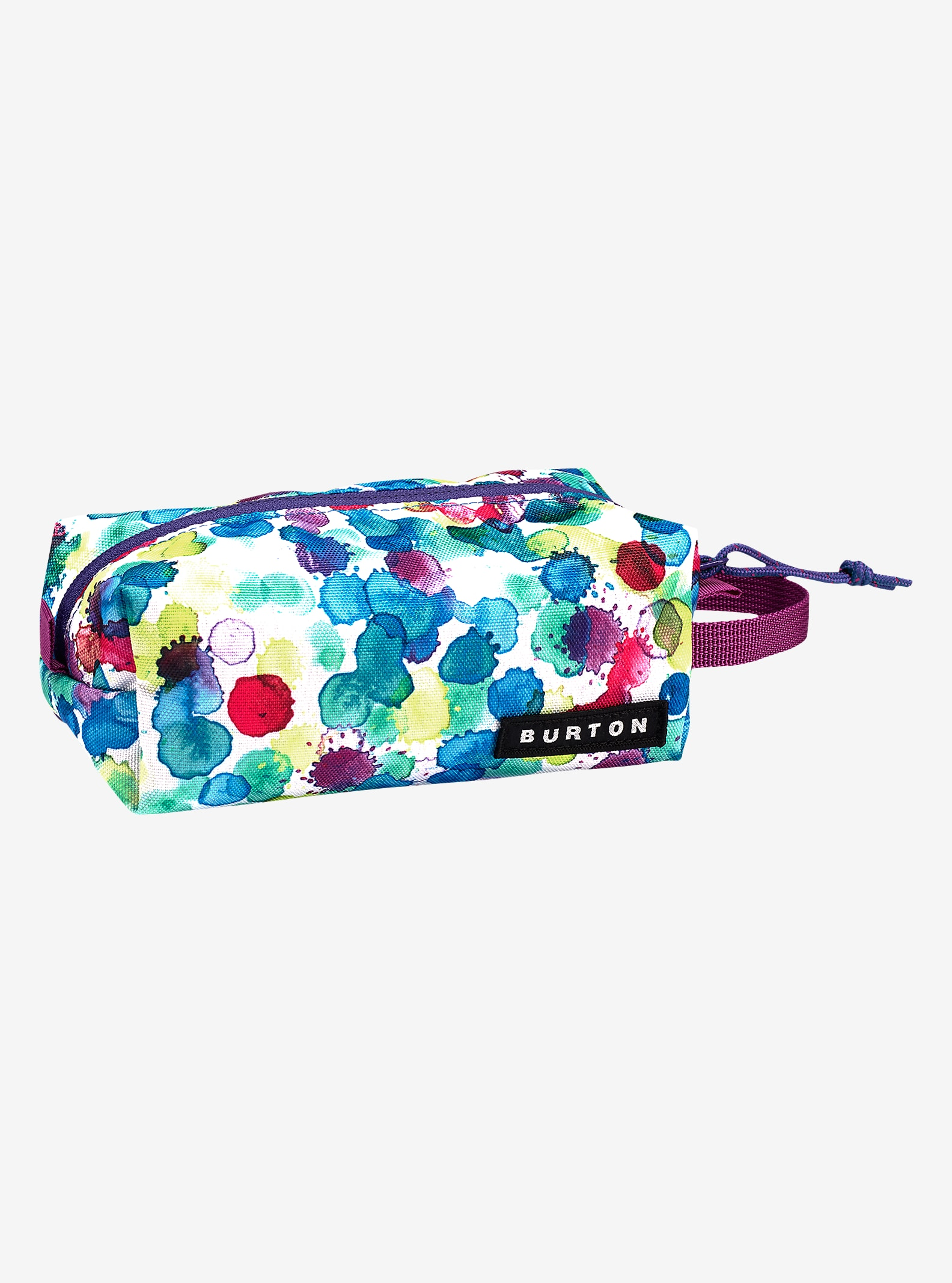 Burton Accessory Case shown in Rainbow Drops Print
