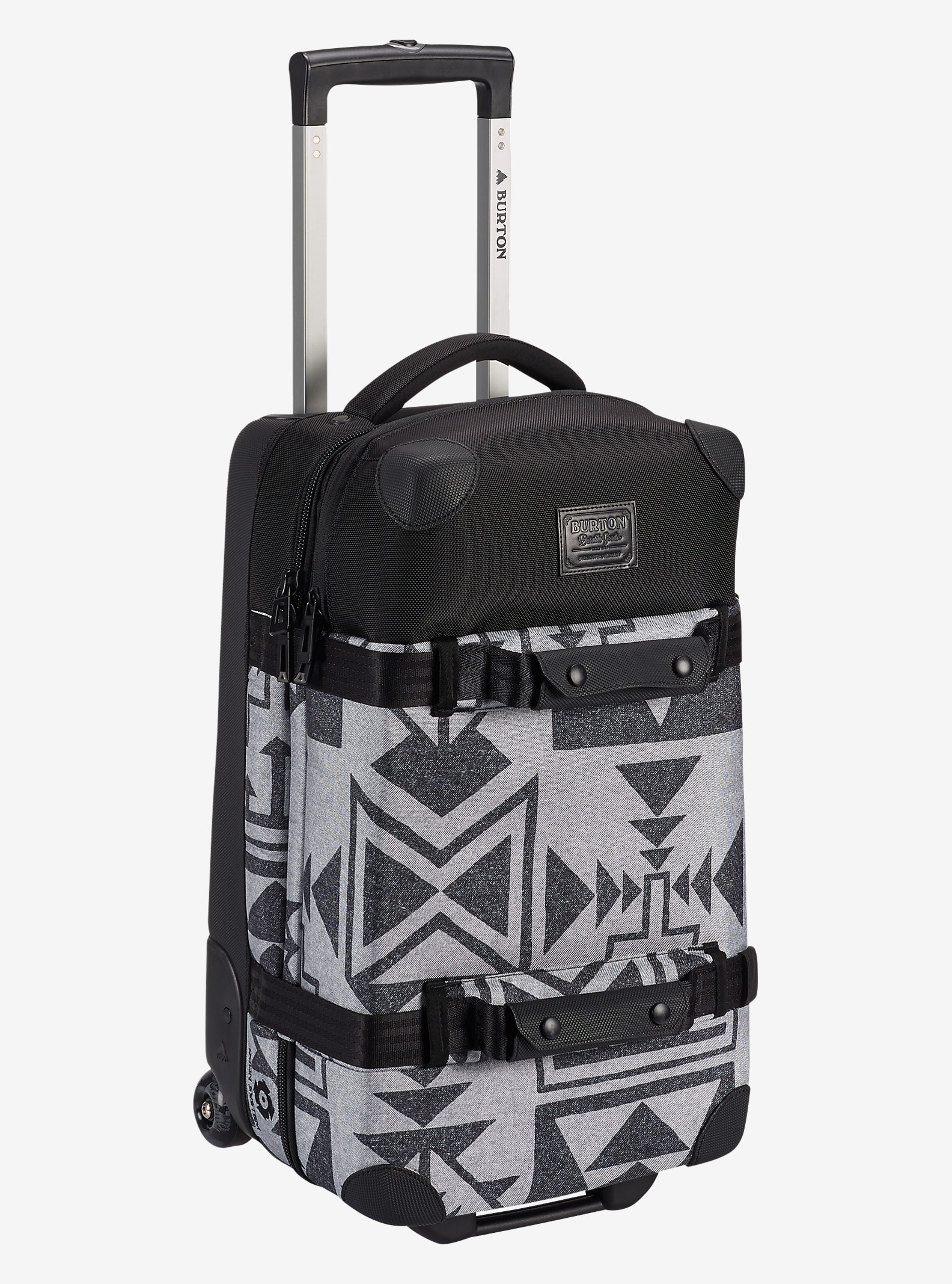 Burton Wheelie Flight Deck Travel Bag shown in Neu Nordic Print