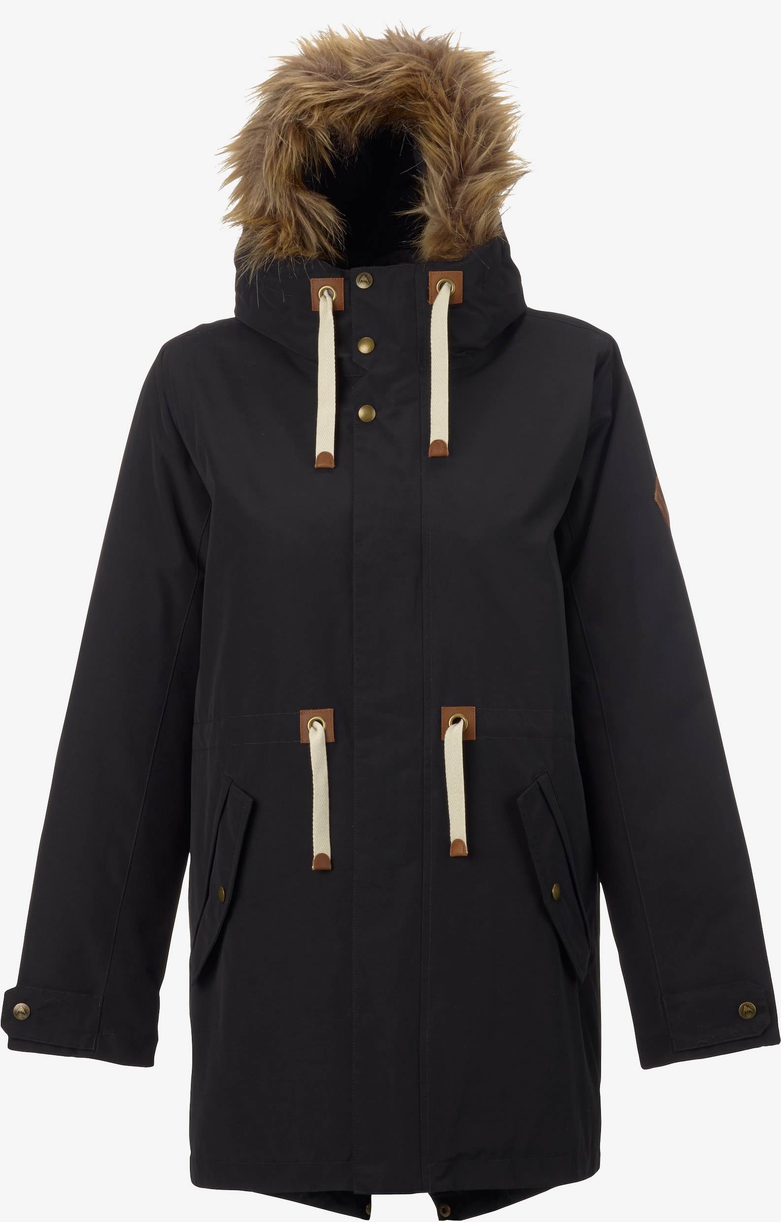 Burton Saxton Parka Jacket shown in True Black