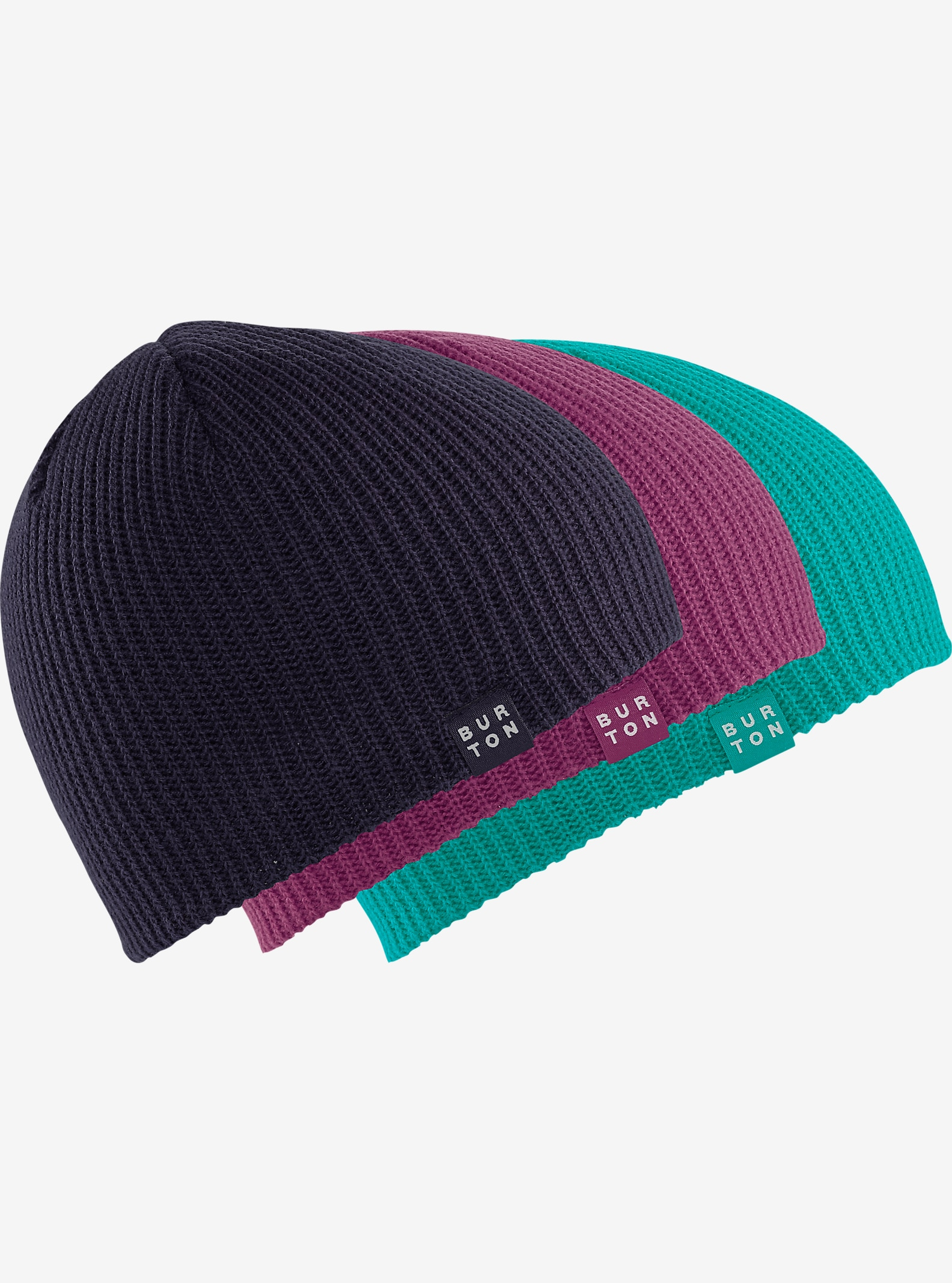 Burton Kids' DND Beanie 3-Pack shown in Spellbound / Grapeseed / Everglade