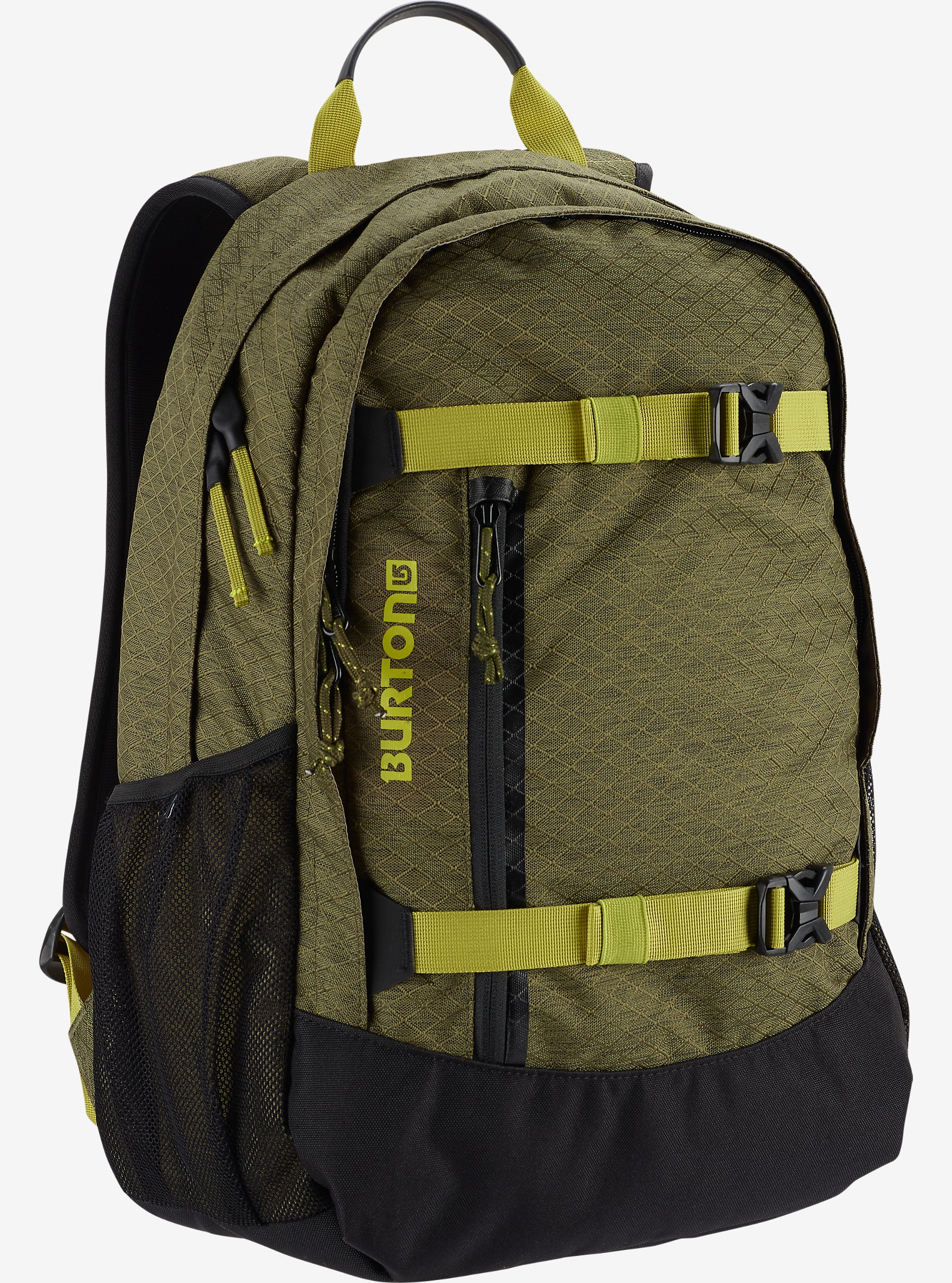 Burton Day Hiker 25L Backpack shown in Jungle Heather Diamond Ripstop
