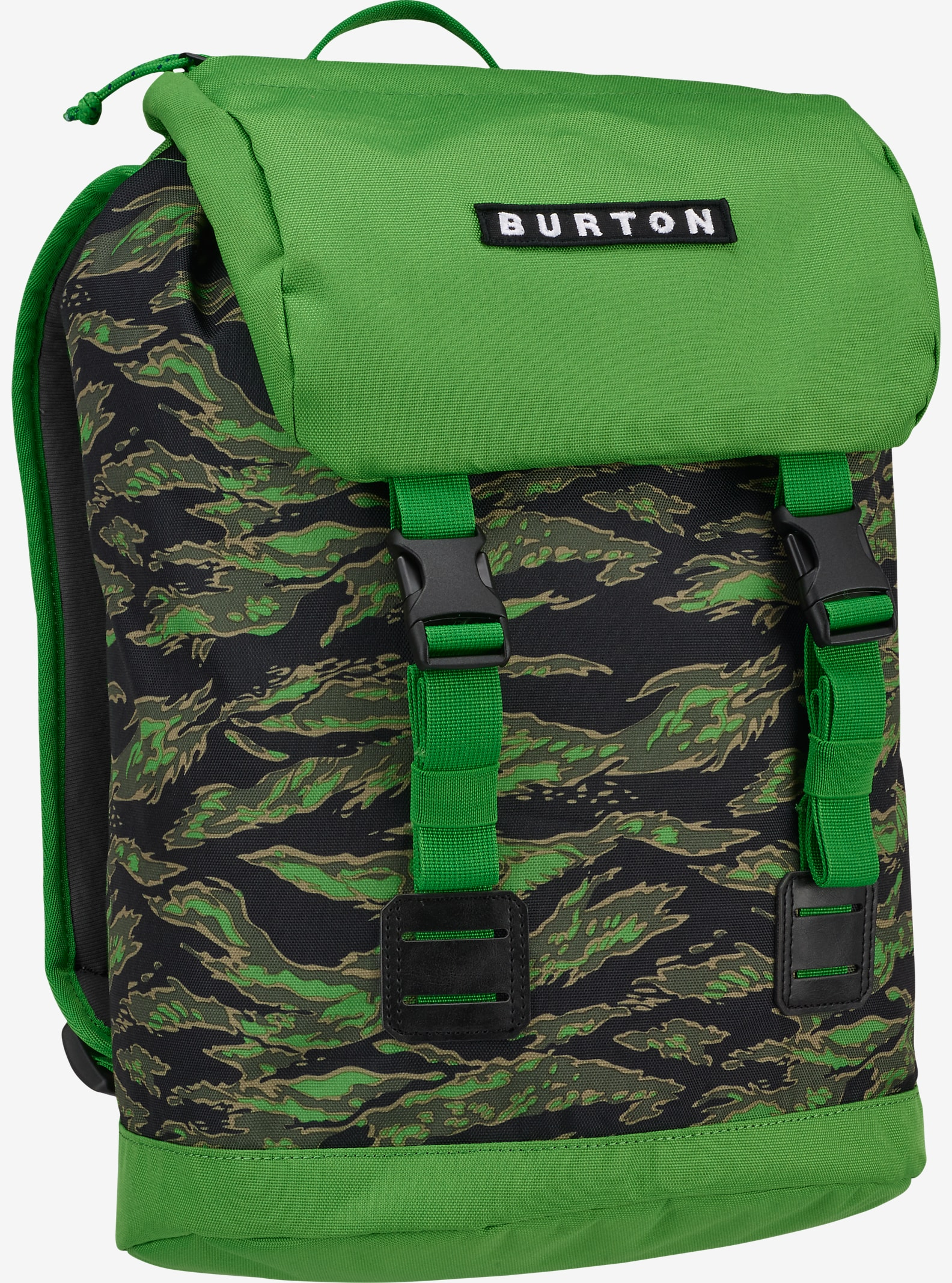 Burton Kids' Tinder Backpack shown in Slime Camo Print