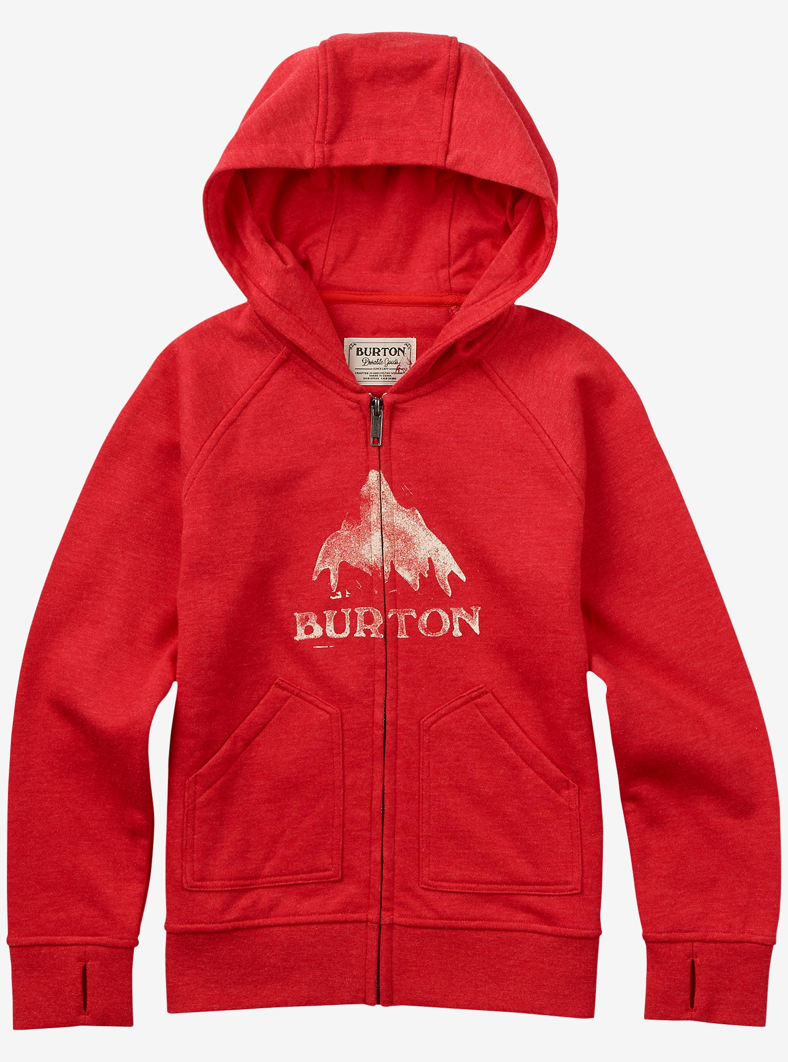 Burton Stamped MTN Full-Zip Hoodie shown in Coral