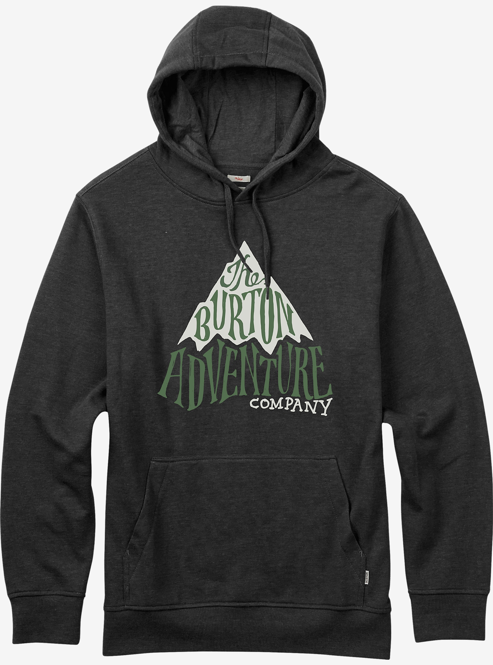 Burton Adventure Co Recycled Pullover Hoodie shown in True Black Heather