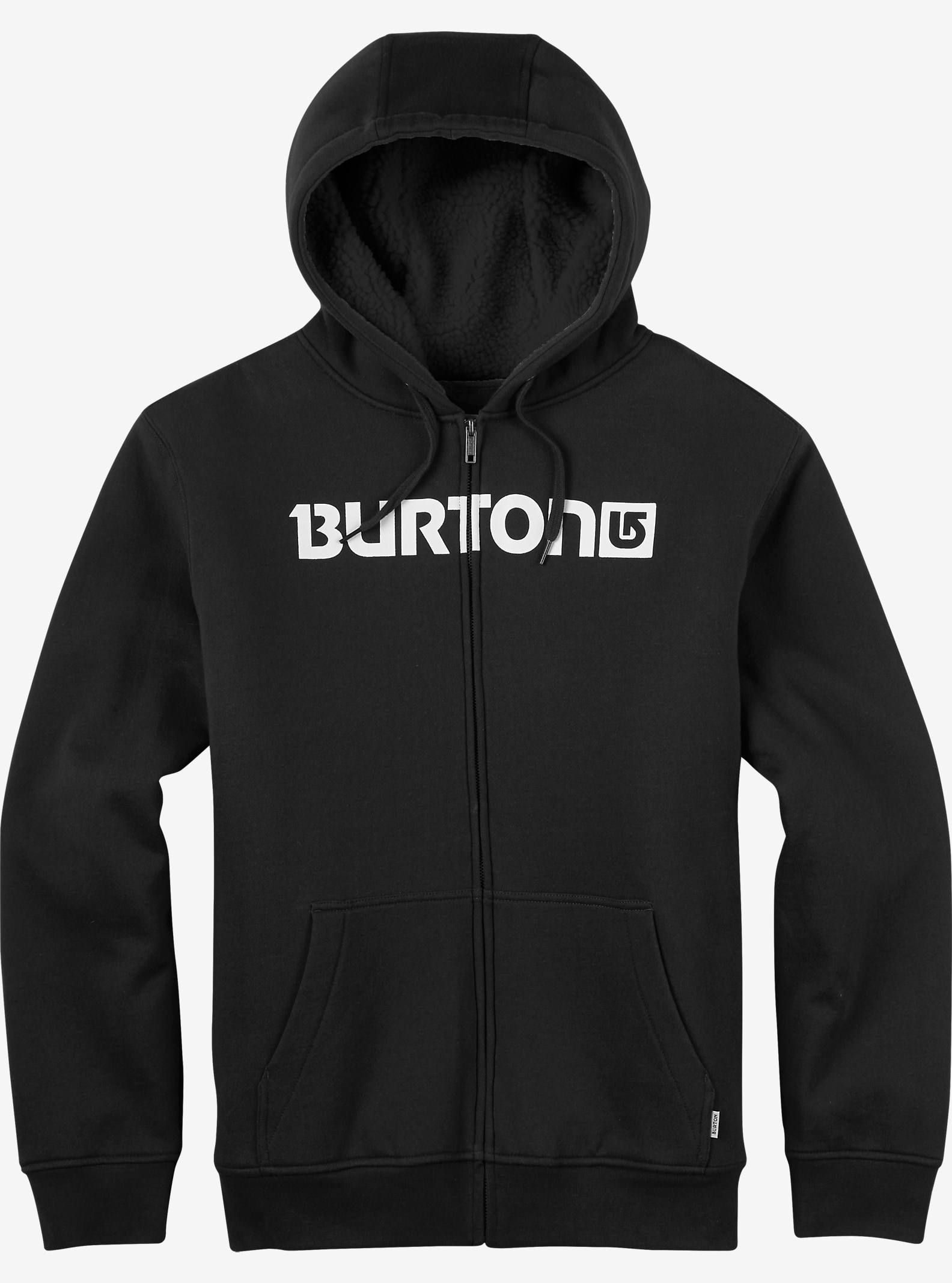 Burton Fireside Full-Zip Hoodie shown in True Black