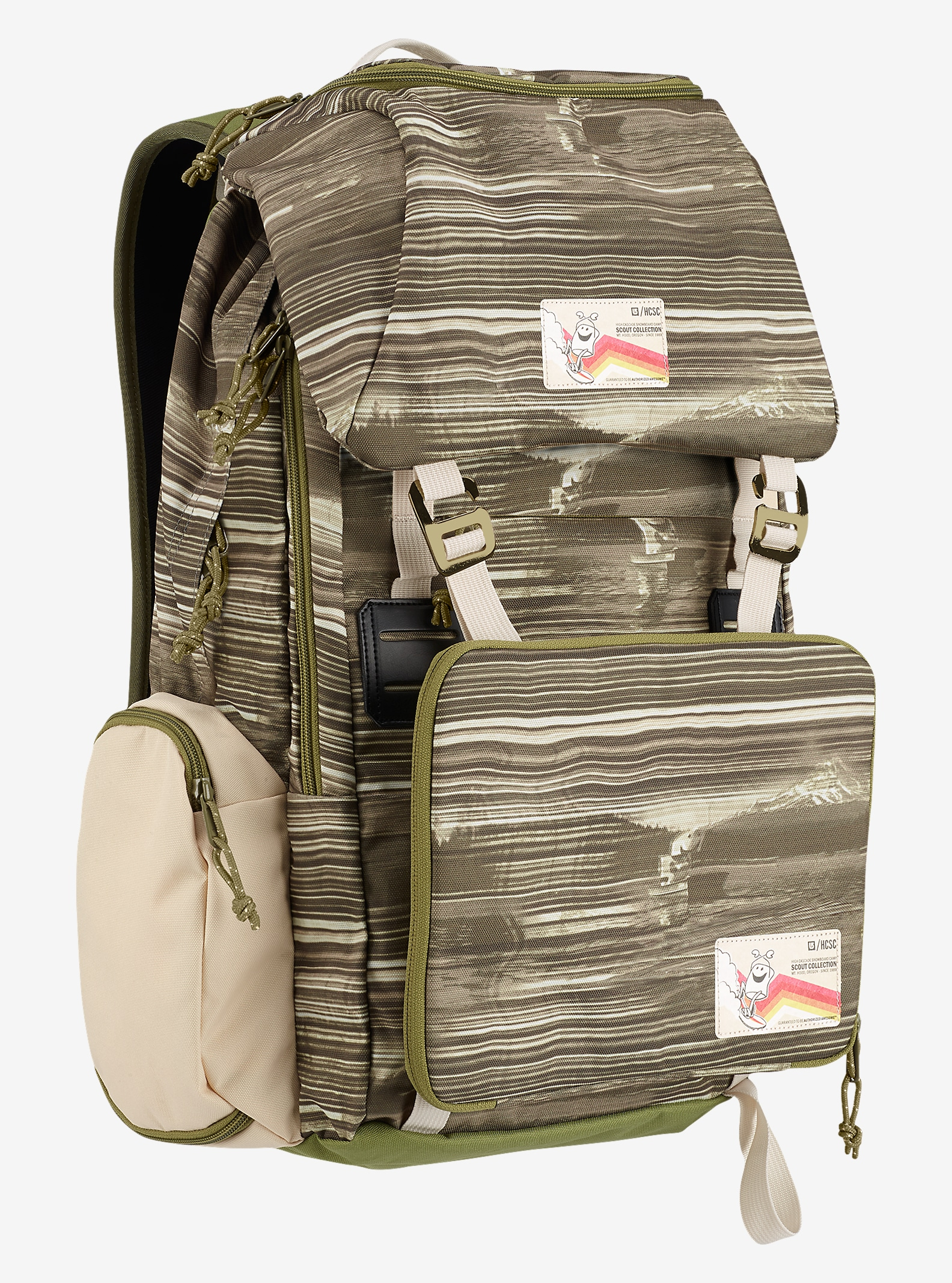 HCSC x Burton Shred Scout Backpack shown in HCSC Scout Tan