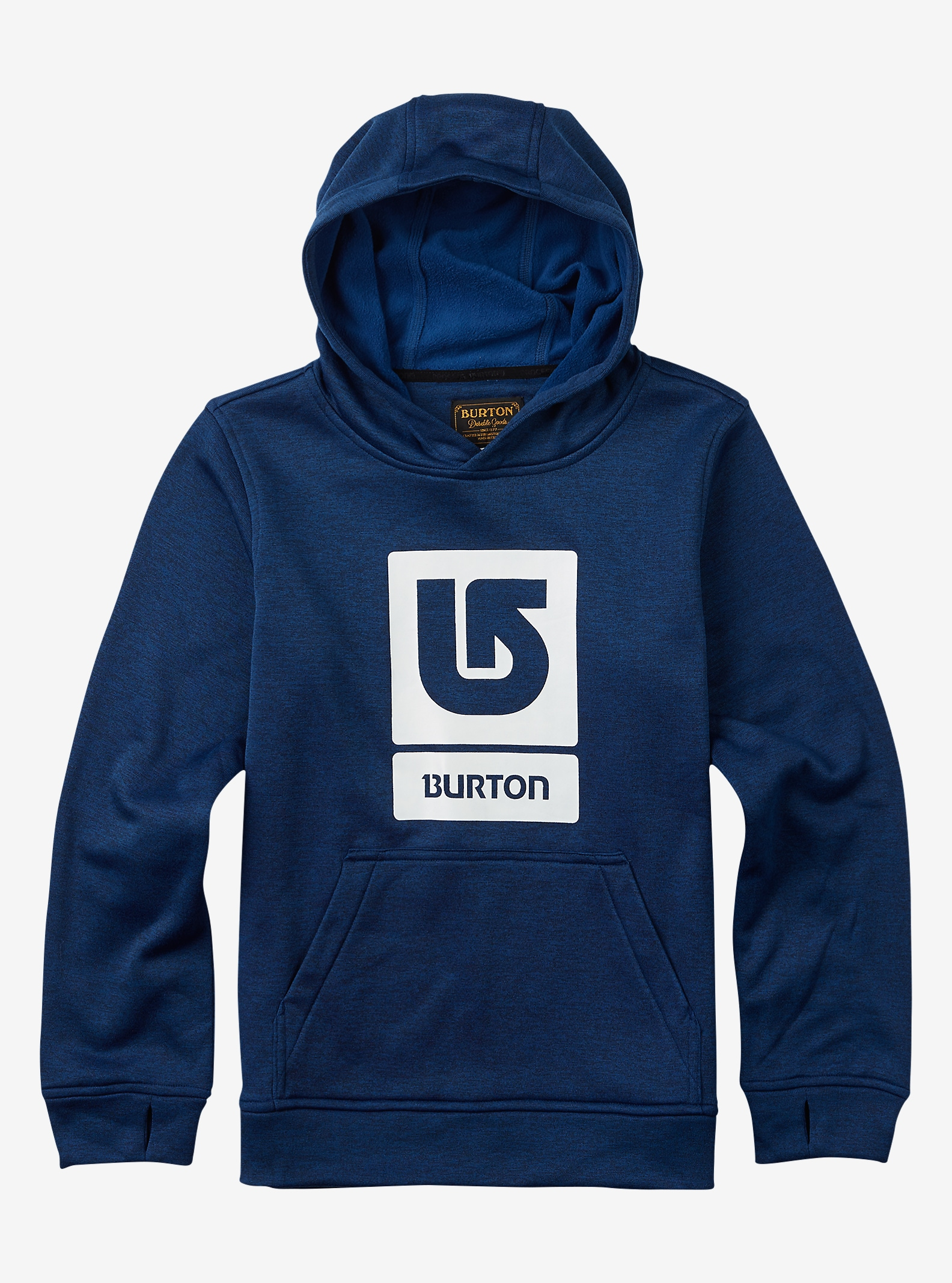 Burton Boys Oak Hoodie angezeigt in True Blue Heather