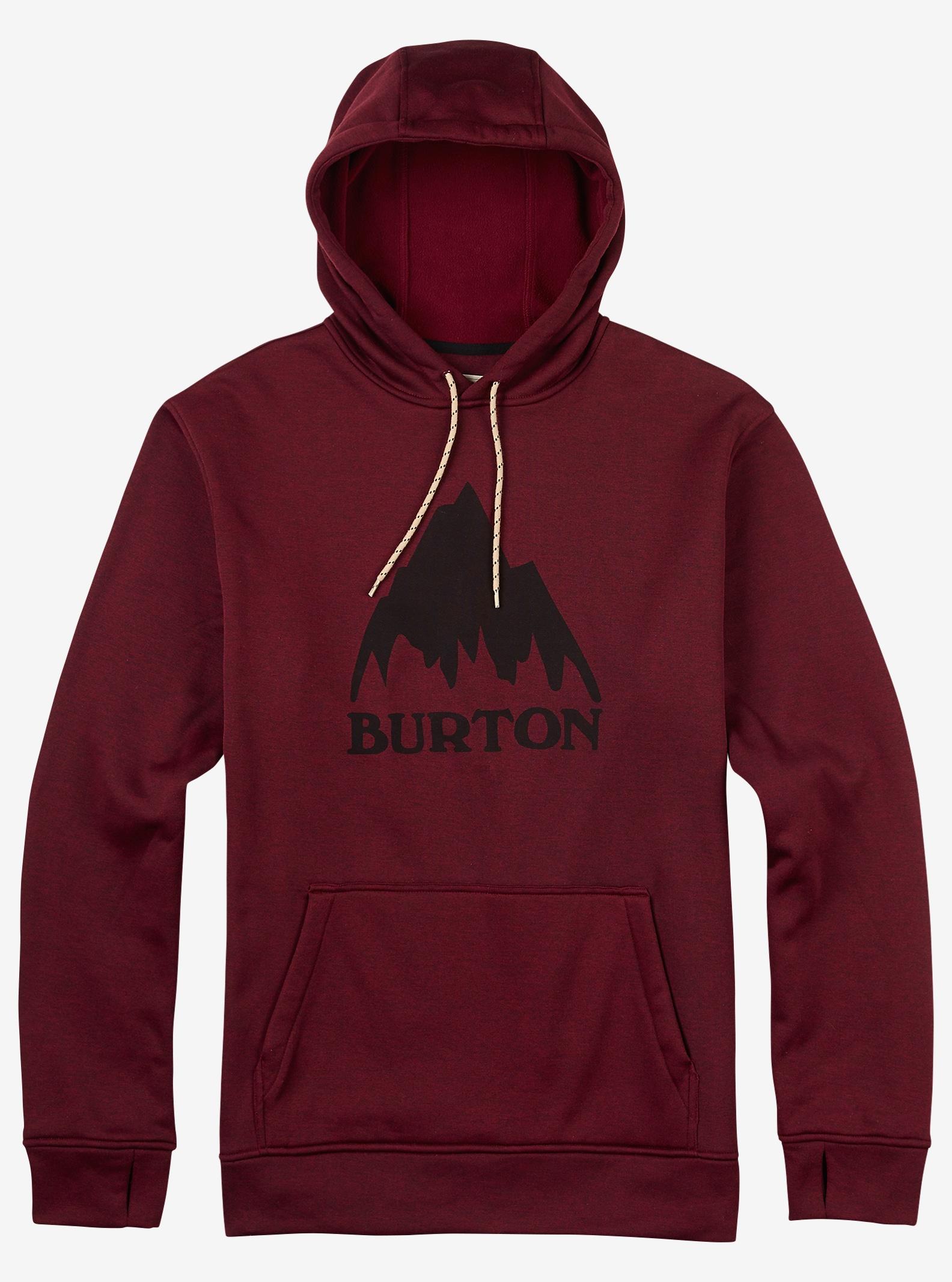 Burton Oak Pullover Hoodie shown in Wino Heather