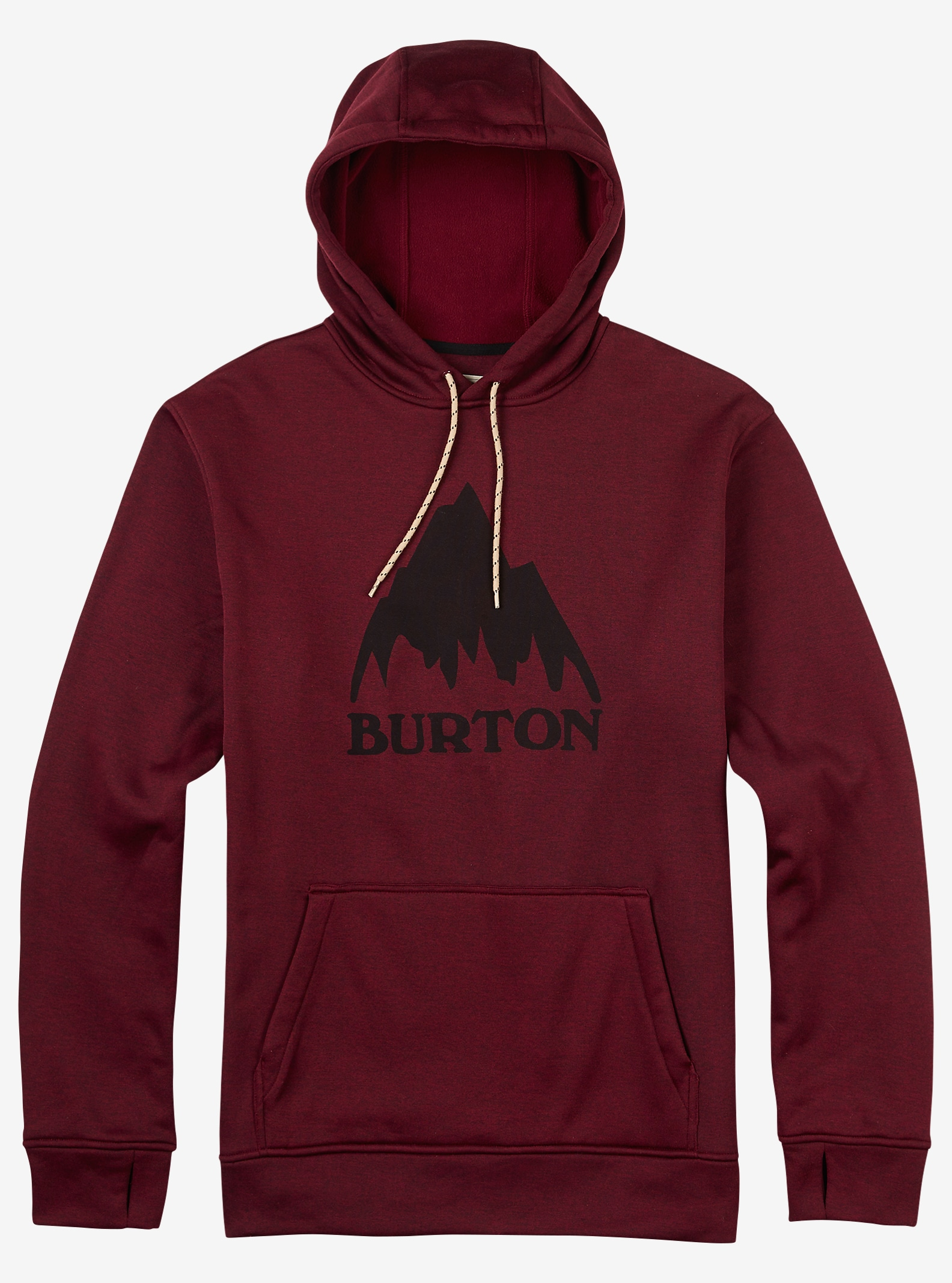 Burton Oak Pullover Hoodie shown in Wino Heather