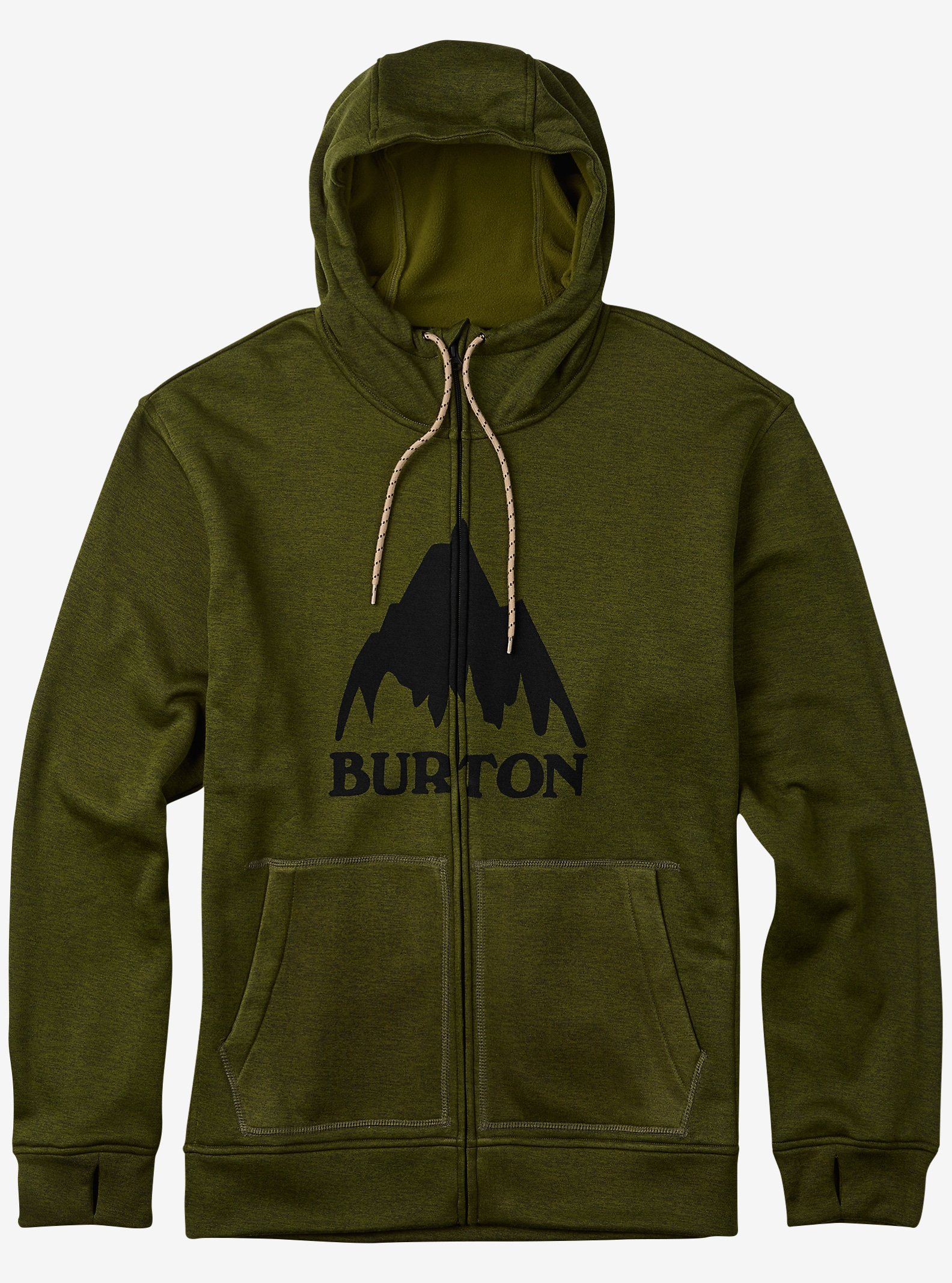 Burton Oak Full-Zip Hoodie shown in Olive Branch Heather