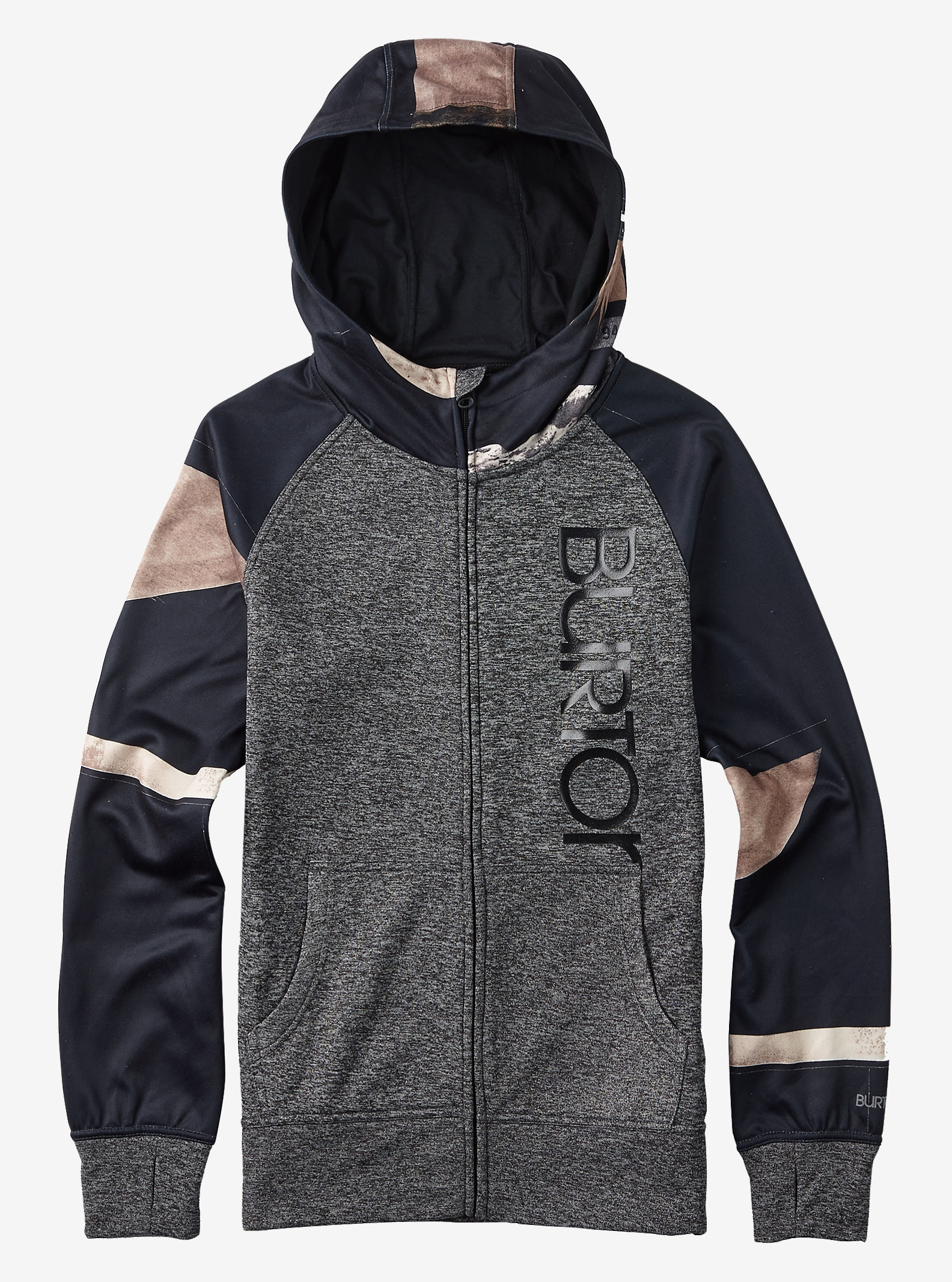 Burton Quartz Full-Zip shown in True Black Heather