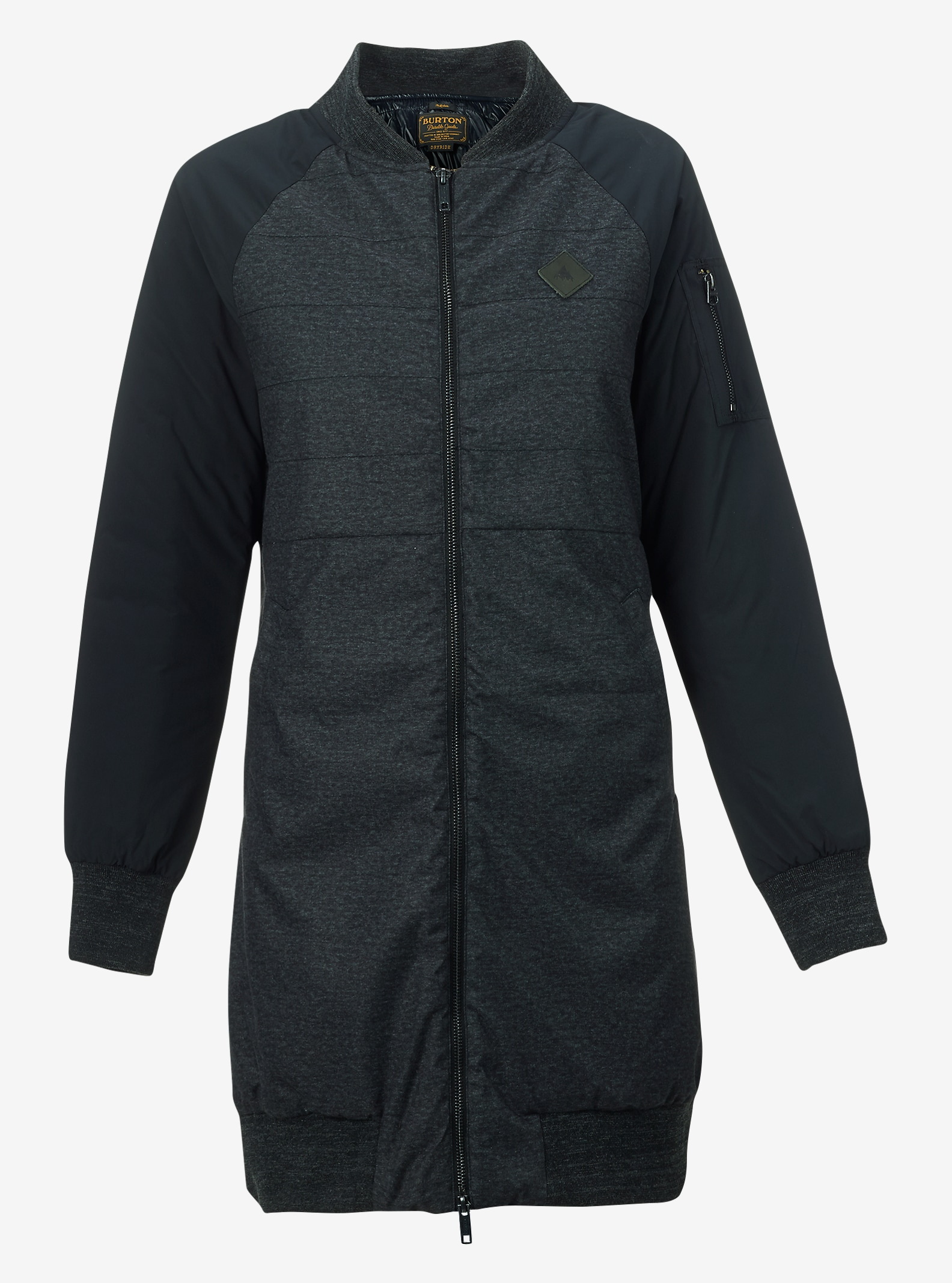 Burton Shelburne Jacket shown in True Black Heather